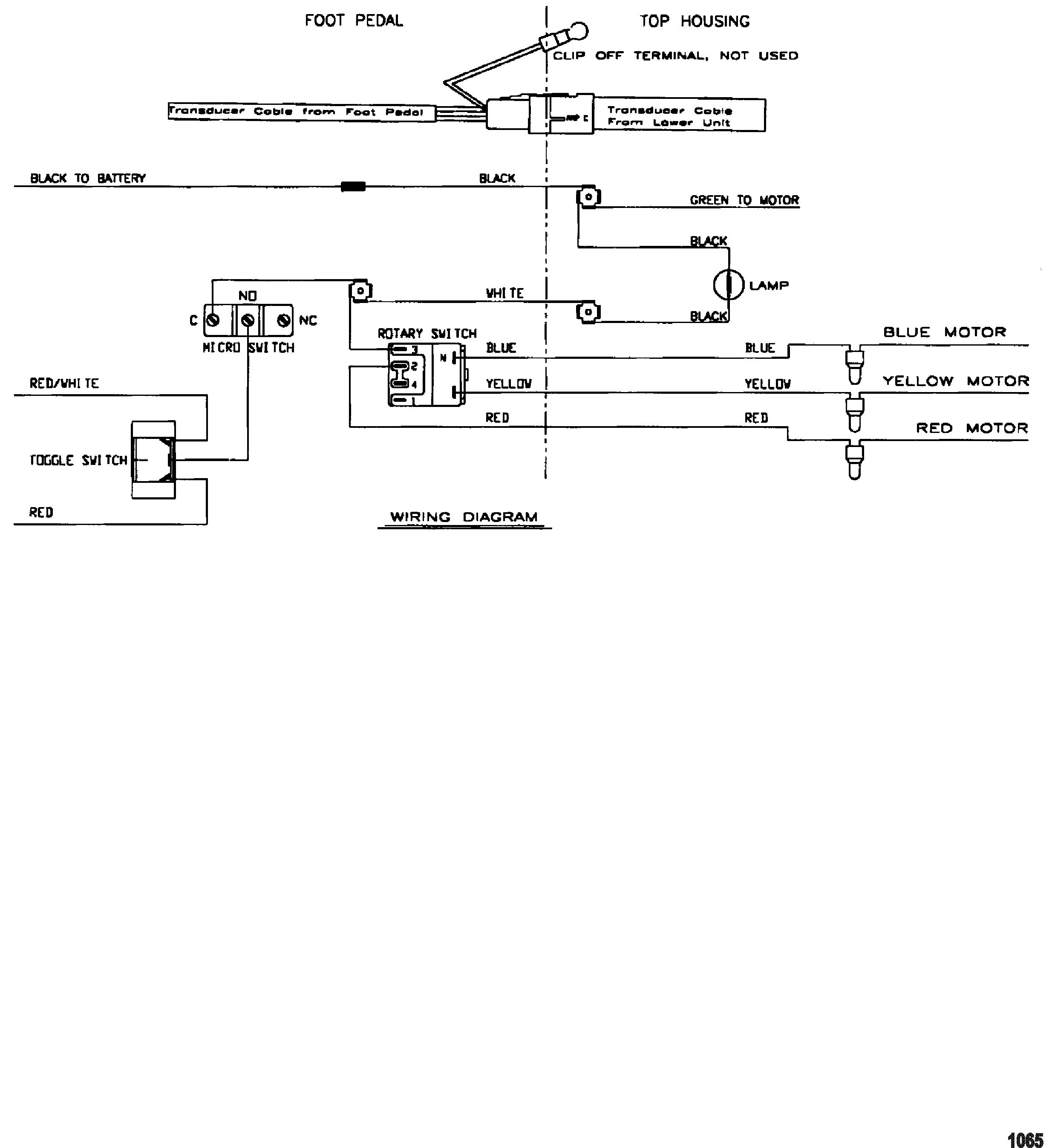 Motorguide Energy Series Wire Diagrammodel Et34 Et35 12 Volt