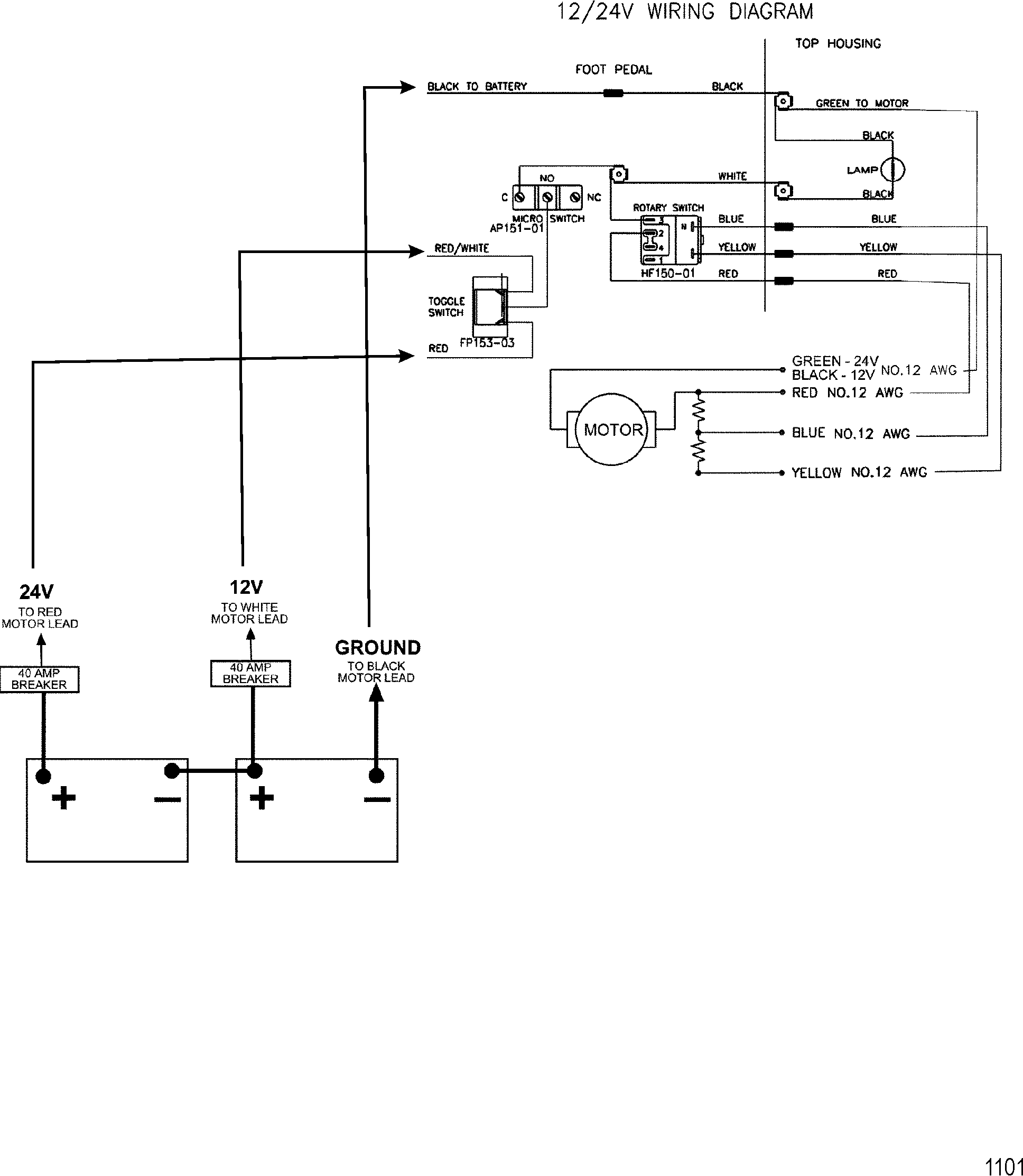 Collection of Diagram 12 24v Trolling Motor Wiring Diagram ...