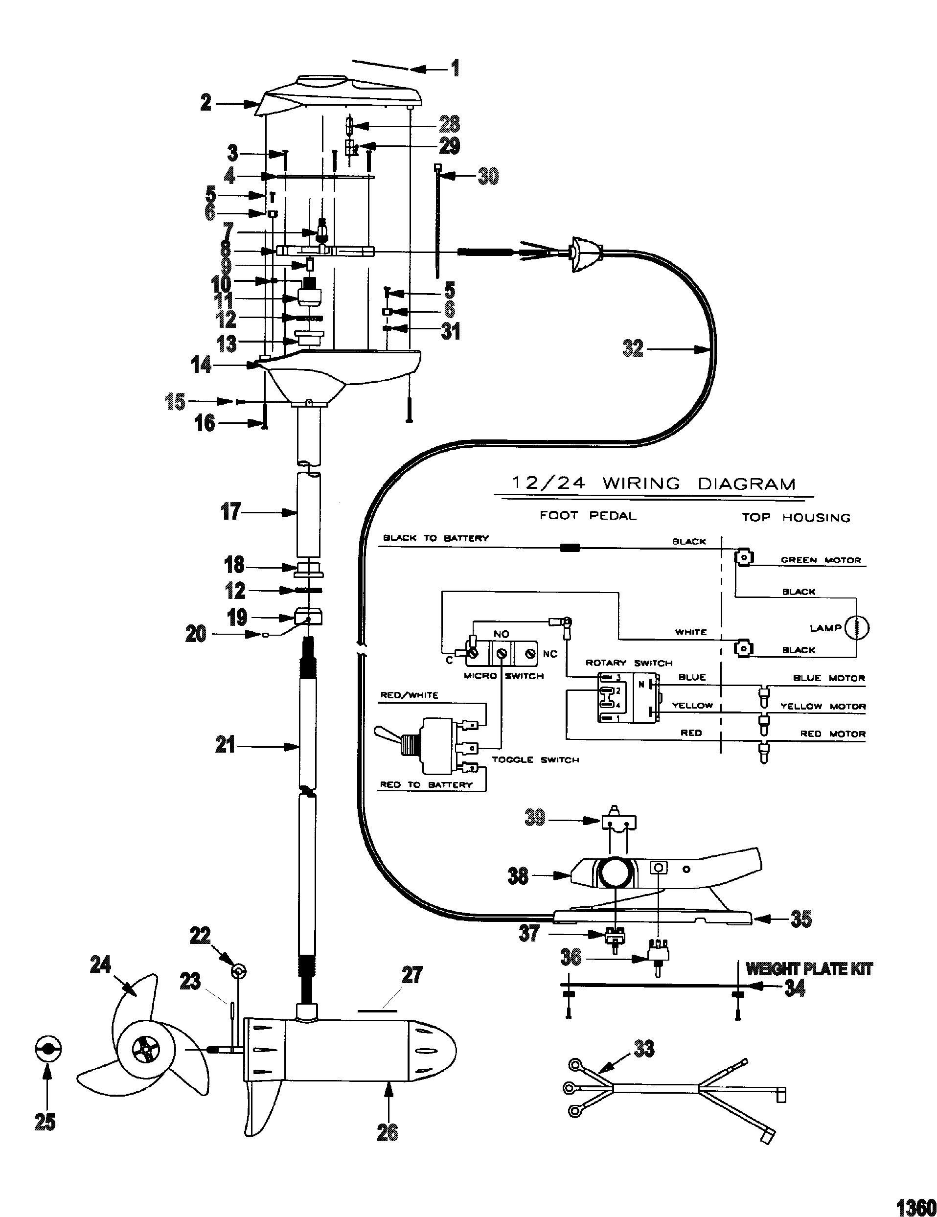 Trolling Motor Motorguide Energy Series All Up 36 Volt Wiring Diagram Complete Motormodel Ef67p 24