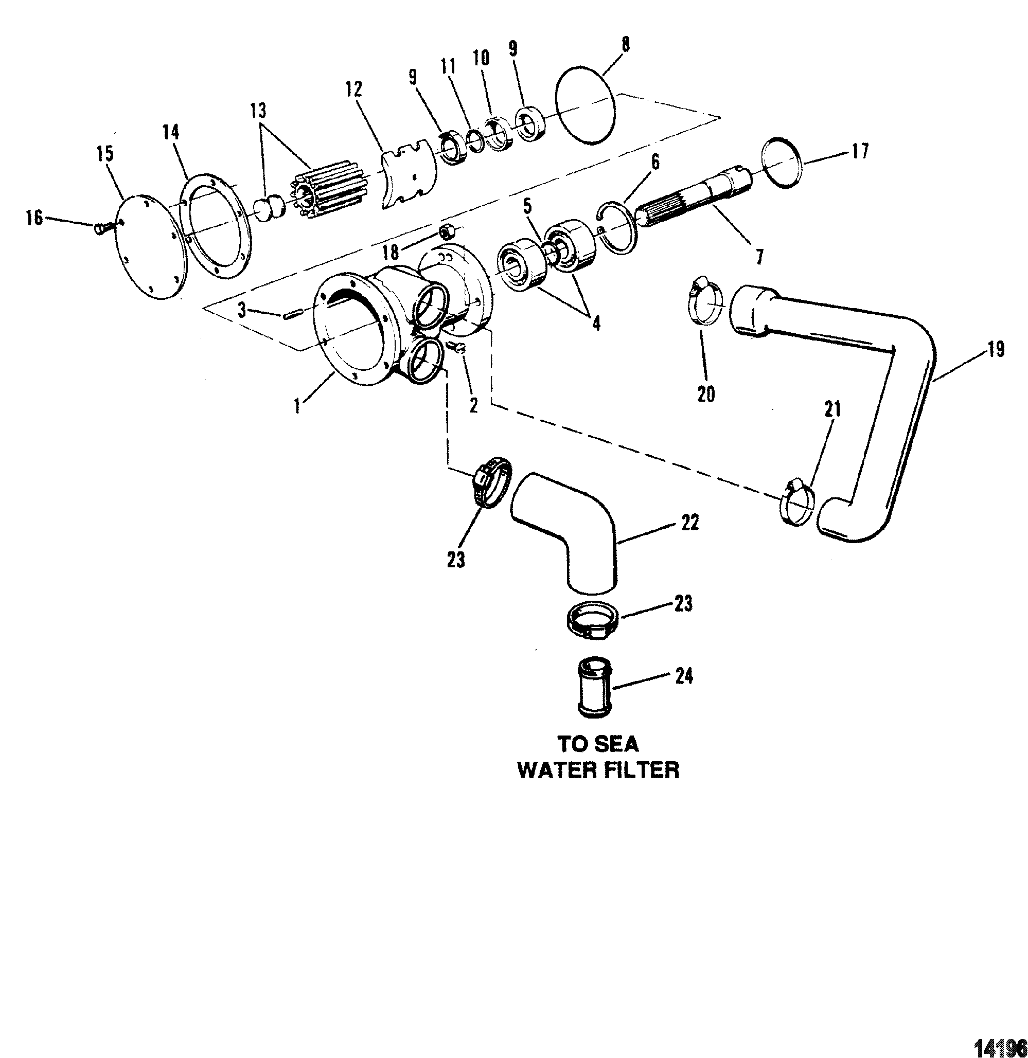 Каталог запчастей MERCRUISER остальные D3 0L (BRAVO) VM 183