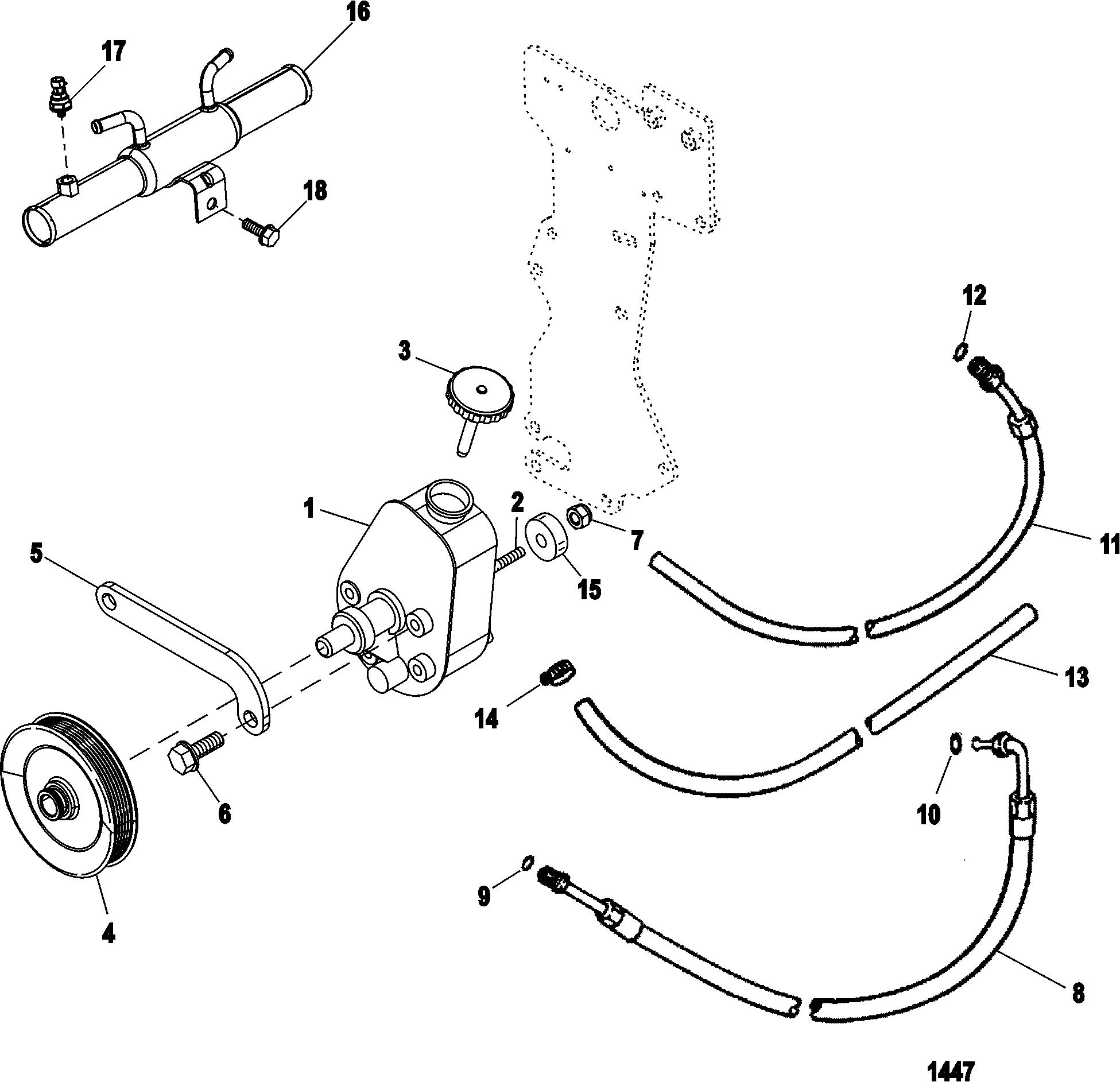 Mercruiser 350 Mag Mpi Alpha Bravo Chrysler Marine Cooling Diagram Power Steering Components