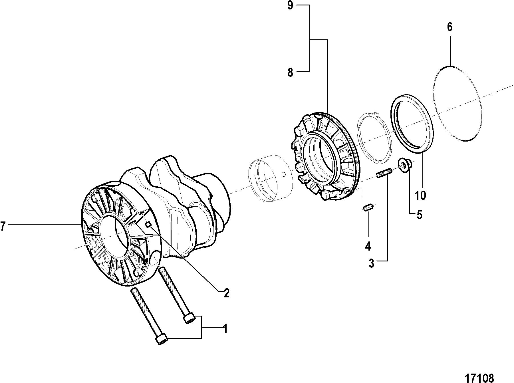 Каталог запчастей MERCRUISER остальные CMD 4 2 MS 230 88030400 THRU