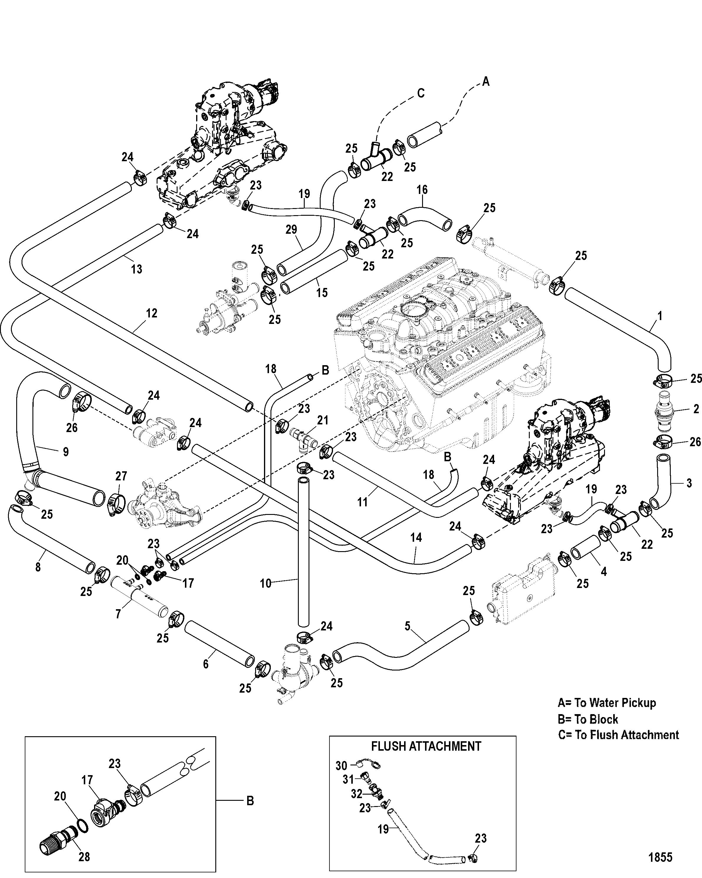 Mercruiser 350 Mag Mpi Engine Diagram Wiring Harness Mx 6 2l Horizon Mie Rh Mercury Lakor Com 57