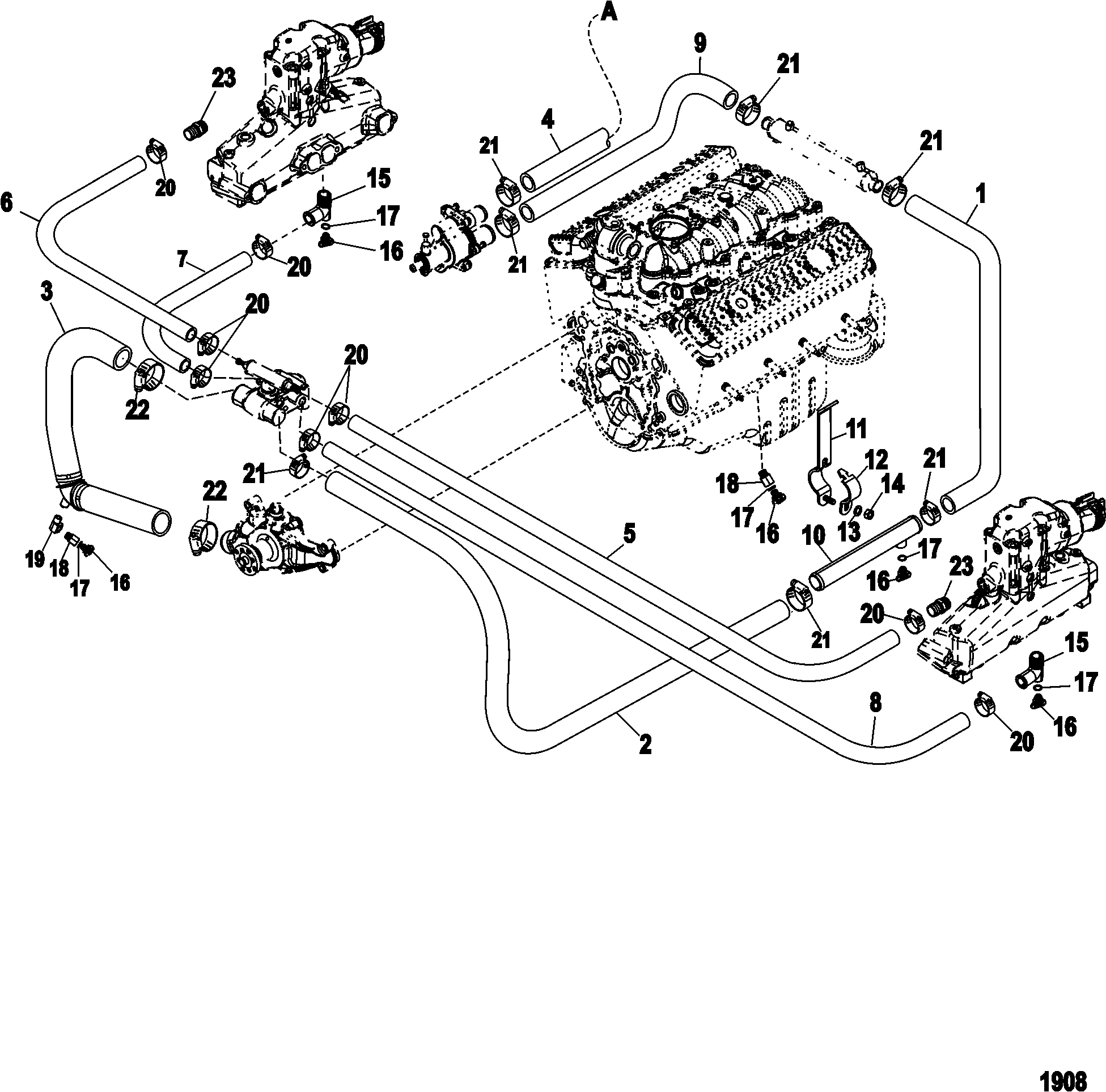 5.7 Engine Parts Schematic - Wiring Diagram