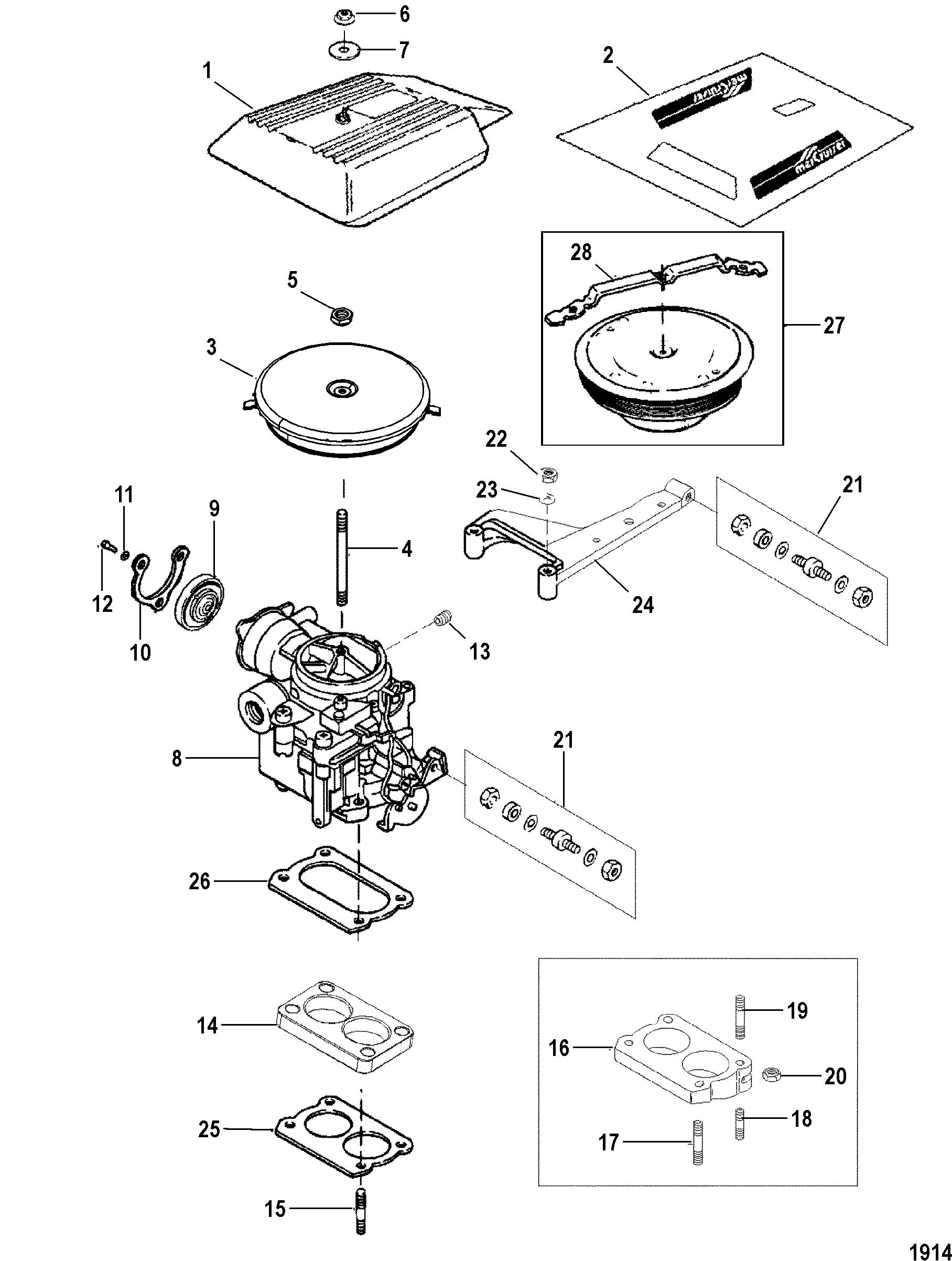 mercruiser carb diagram