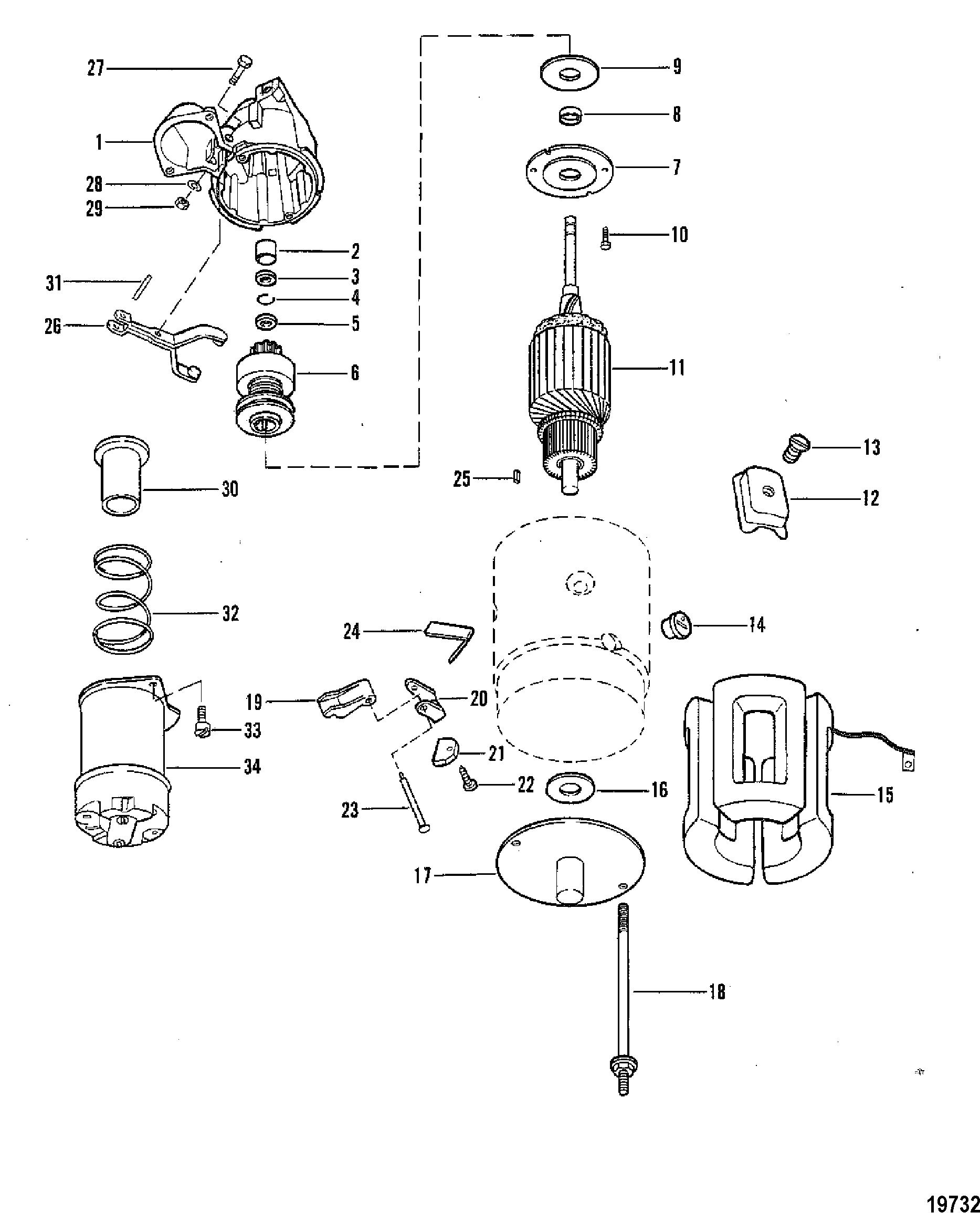 КатаРог запчастей mercruiser остаРьные 440 trs gm 454 v 8 1983 starter motor assembly · photos