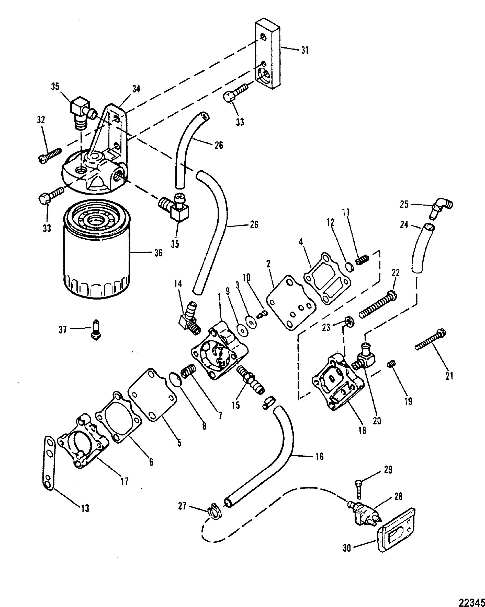 verado fuel filter housing