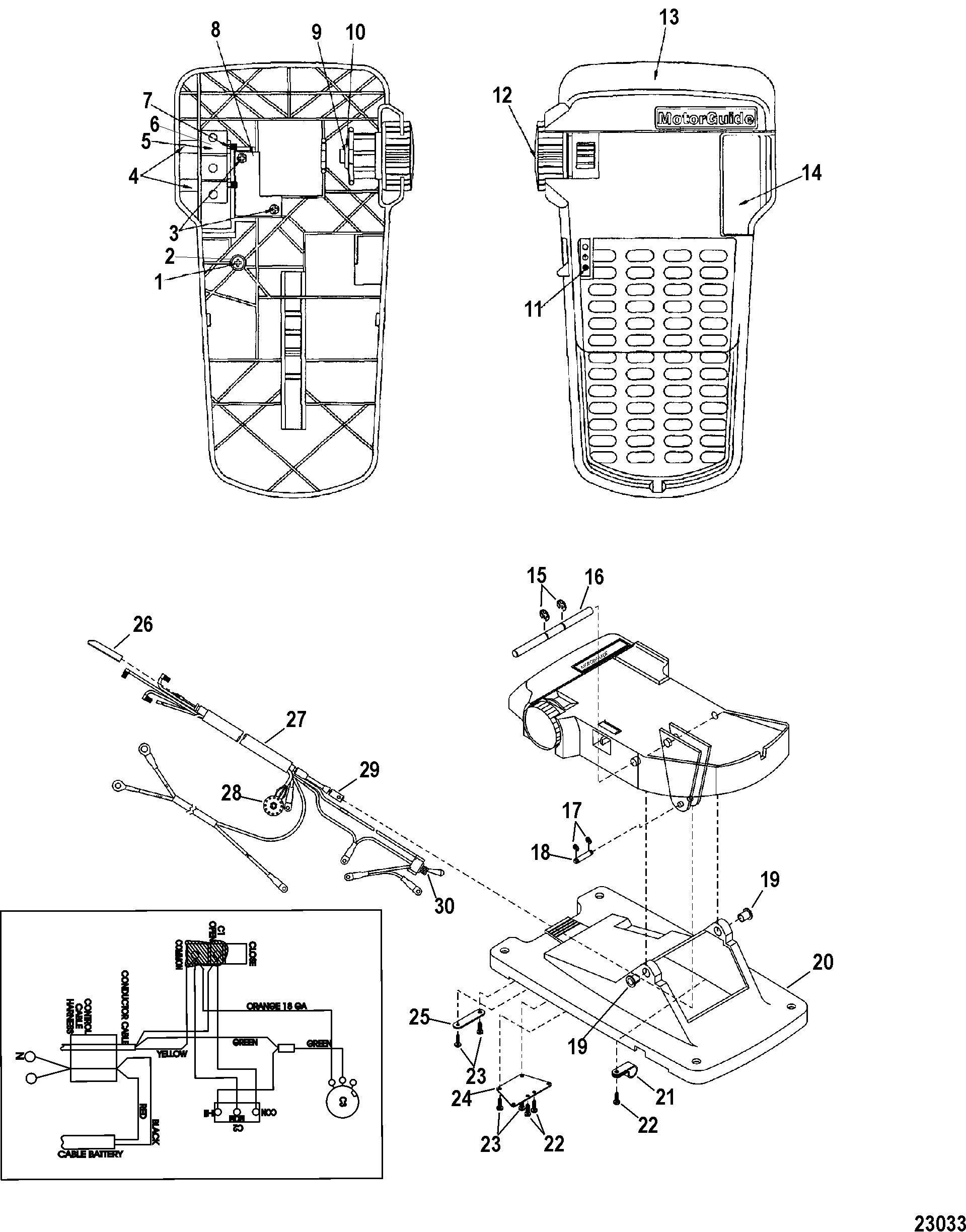������� ��������� trolling motor motorguide brute series 9b000001 24V Trolling Motor Wiring Diagram foot pedal assembly(m899723t)