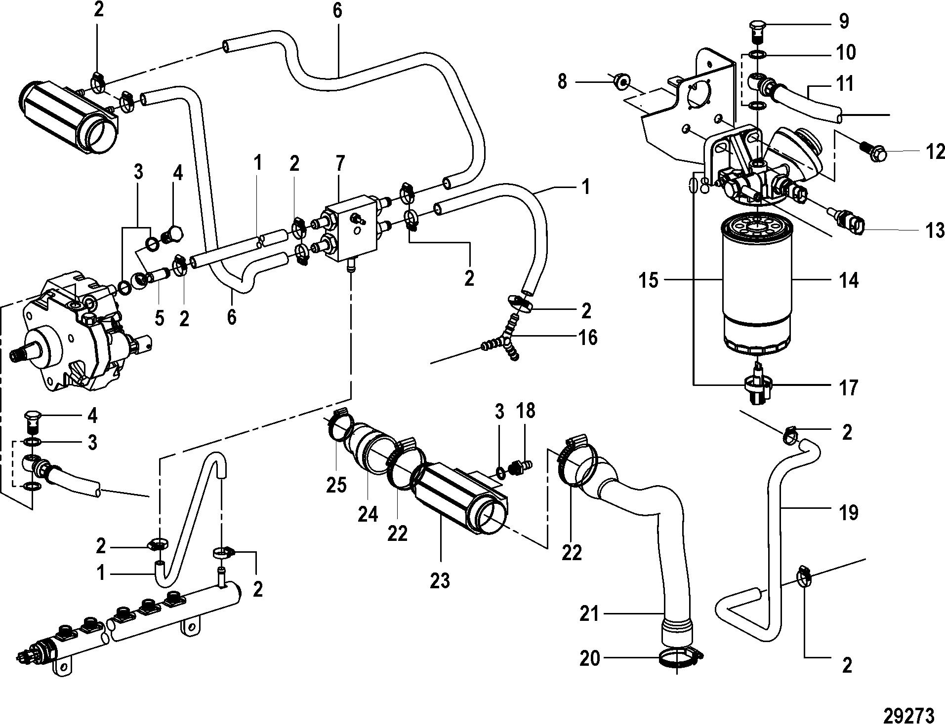 Каталог запчастей MERCRUISER остальные CMD QSD 2 8 EI 170