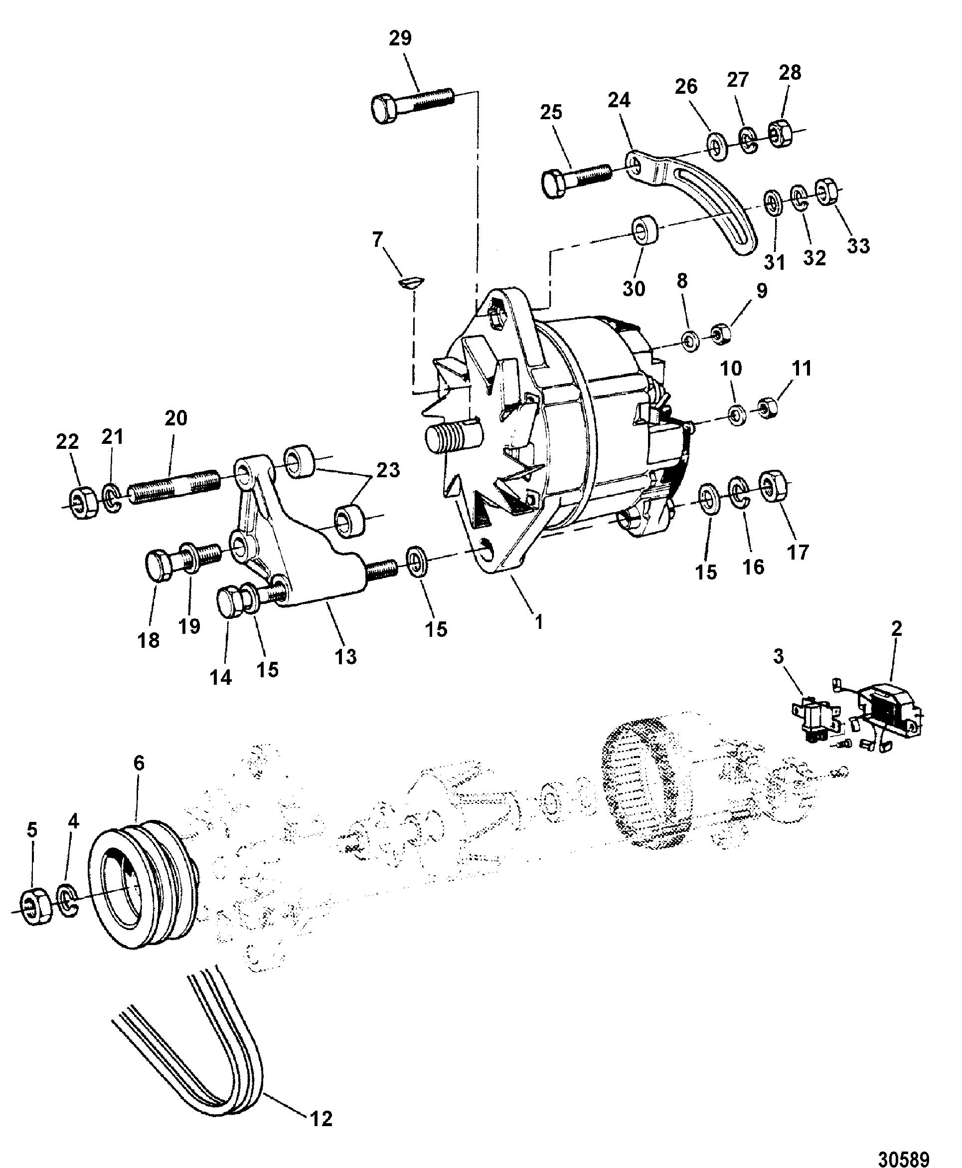 1963 mercury alternator wiring diagram database  mercruiser d4 2l 200 ld vm 254 i l6 1964 mercury marauder 1963 mercury alternator