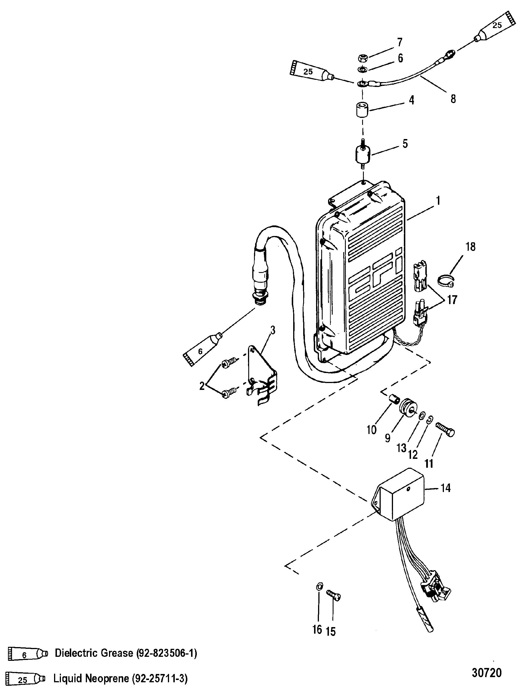 Mercury V 150 Efi 0g960500 Thru Diagram Of 8 2 Cyl2strokeinternational Outboard Ecu Assembly