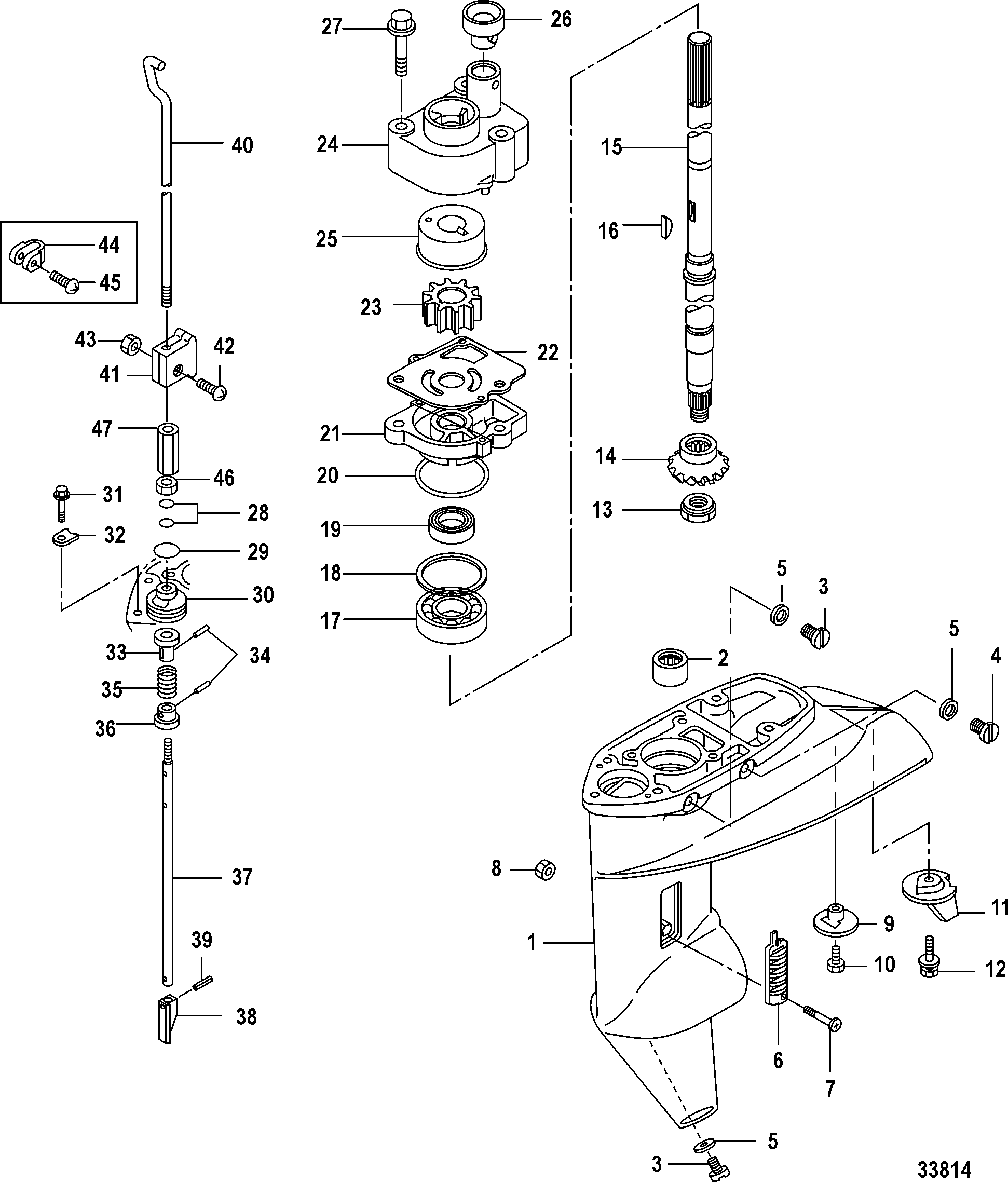 Каталог запчастей mariner 20 carb(2cyl)(4 stroke) 0r235168 \u0026 up