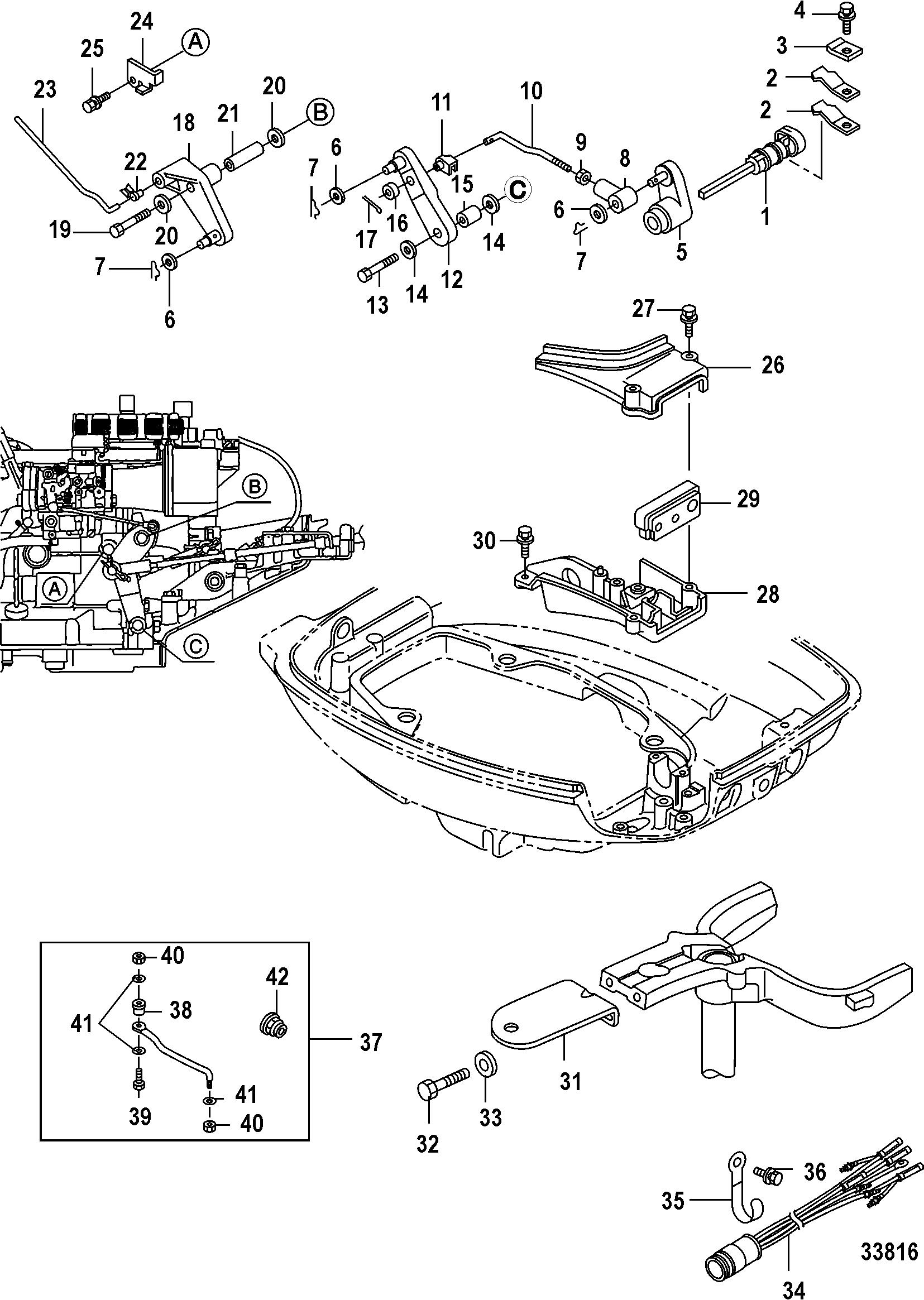 mercury outboard 0r235168 up gear housing propeller shaft diagram