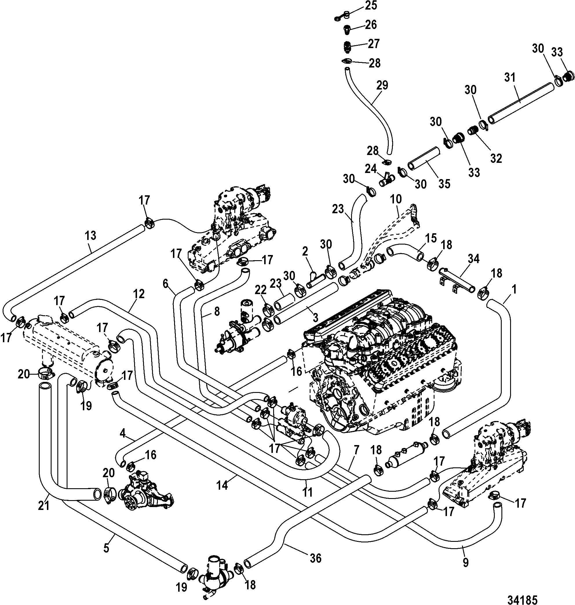 Mercury 350 Engine Diagram Wiring Mercruiser 377 Harness Libraryclosed Cooling System Axius