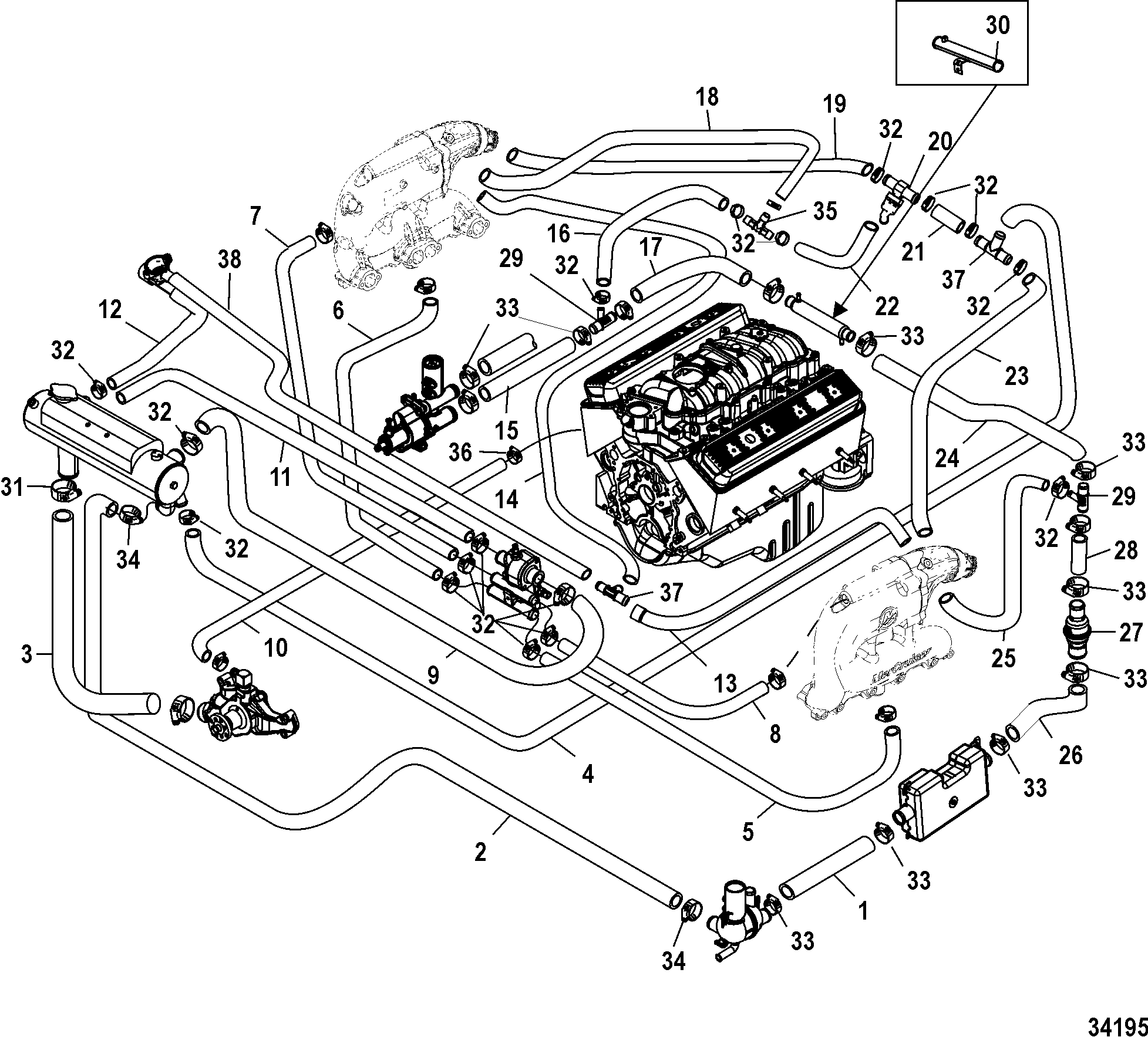 1998 50 Mercruiser Engine Diagram Trusted Wiring 4 3 Liter 350 Mag Mpi Horizon Alpha 1986