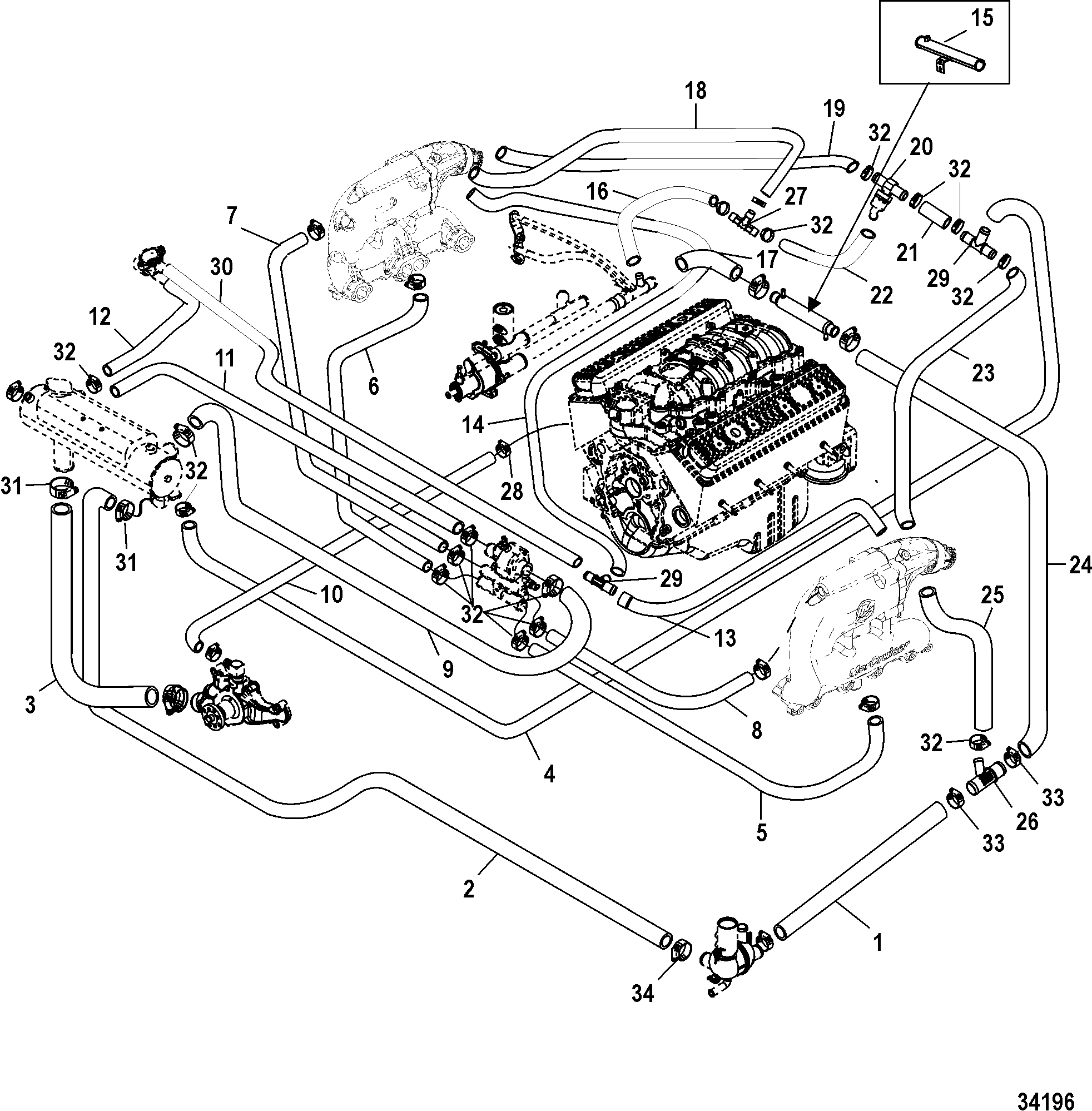wiring diagram 4 3l mercruiser parts