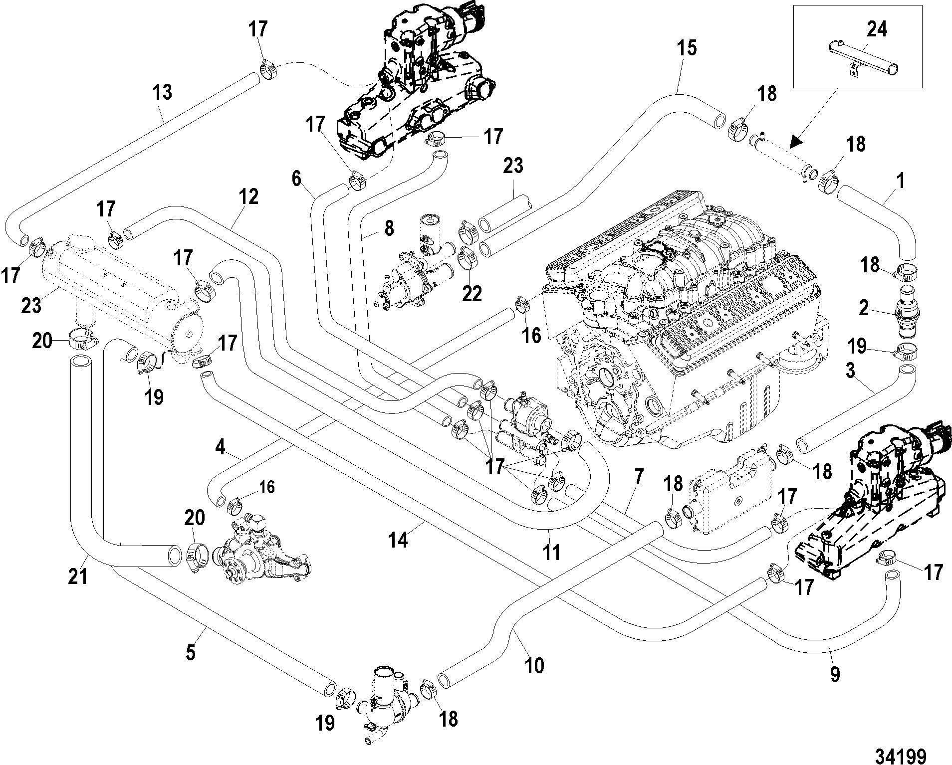 34199 ������� ��������� mercruiser ��������� 350 mag mpi alpha bravo Mercruiser 3.7L 1990 Wiring Diagram at mifinder.co