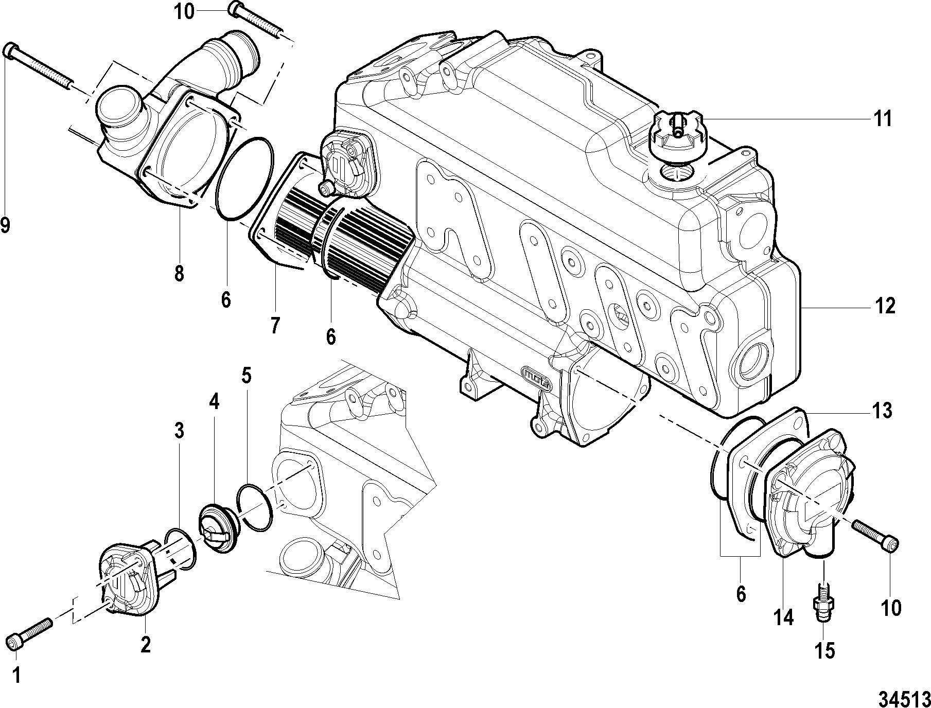 Термостат теплообменник лодочного мотора выбрать теплообменник для выносных баков