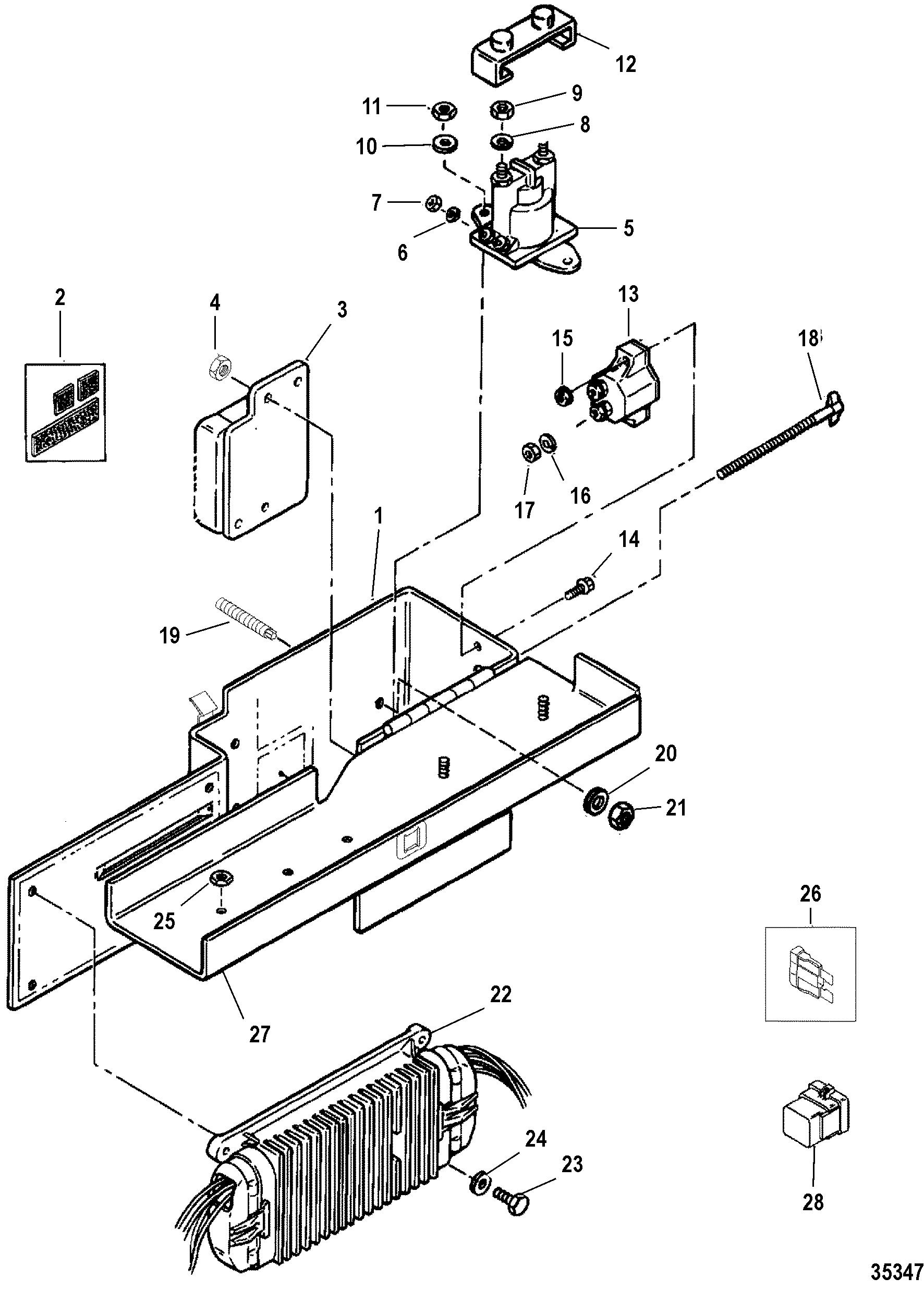mercruiser 8 2l mie mpi gen vi gm 502 Mercruiser 5.7 Wiring Harness Diagram electrical box and ponents