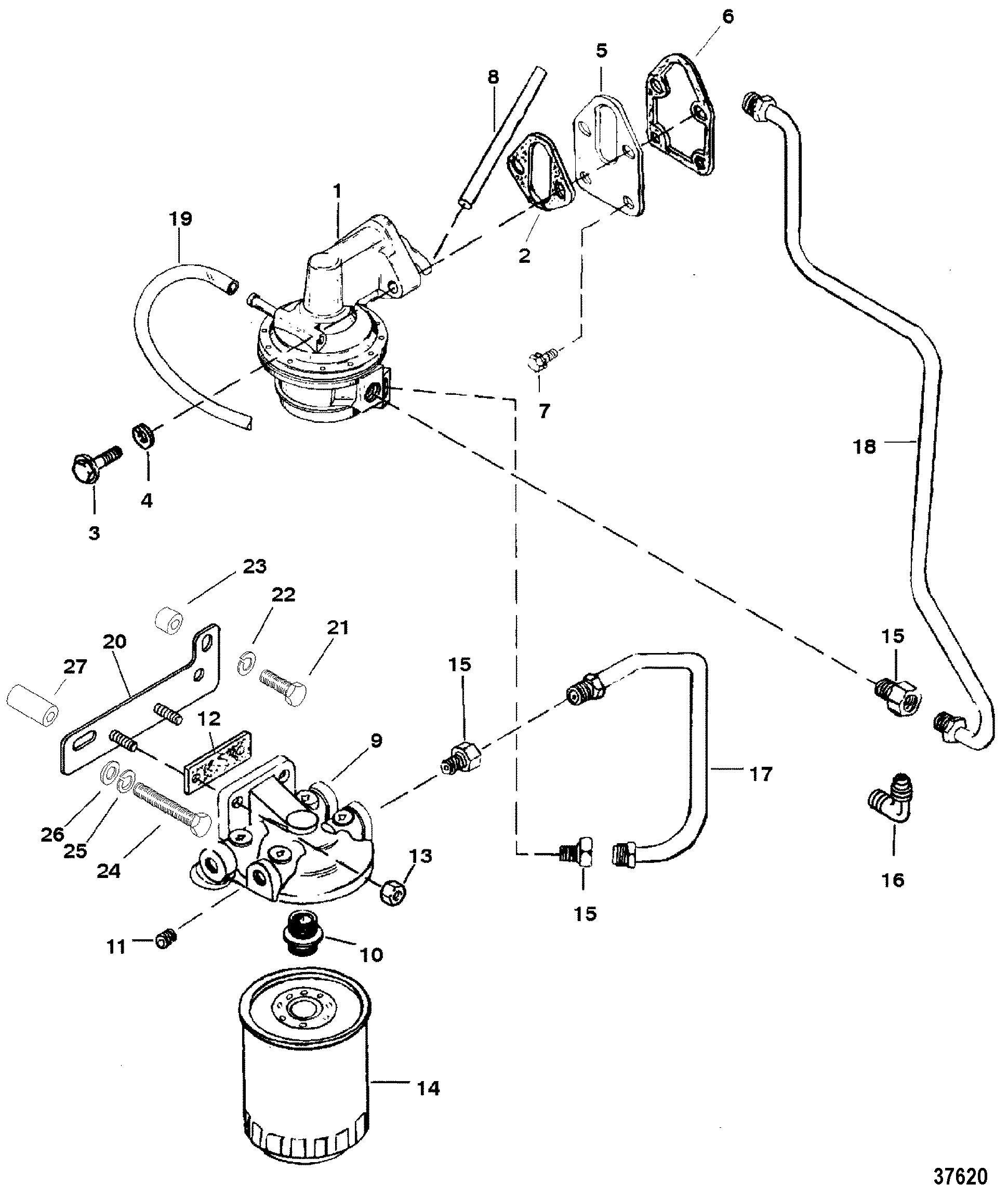 Каталог запчастей MERCRUISER остальные 5 7L GM 350 V-8 1988