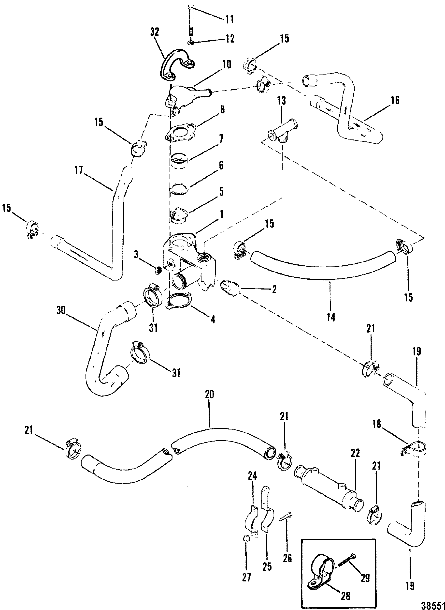 5 7l Engine Diagram Cooling System Trusted Wiring 2001 Mercruiser 0 Product Diagrams U2022