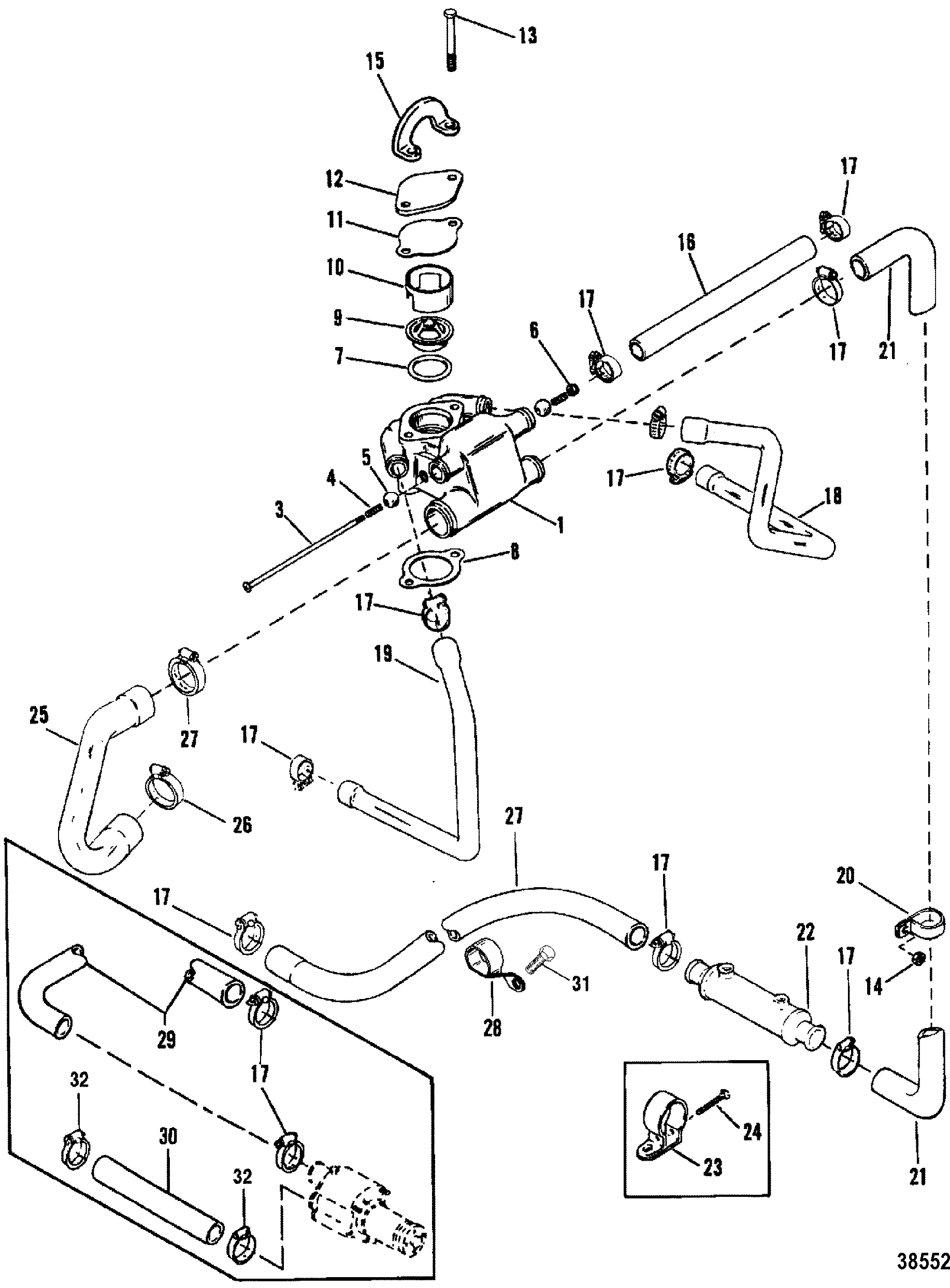 Mercruiser 57l Gm 350 V 8 1988 1995 Engine Diagram Standard Cooling Systemdesign Ii