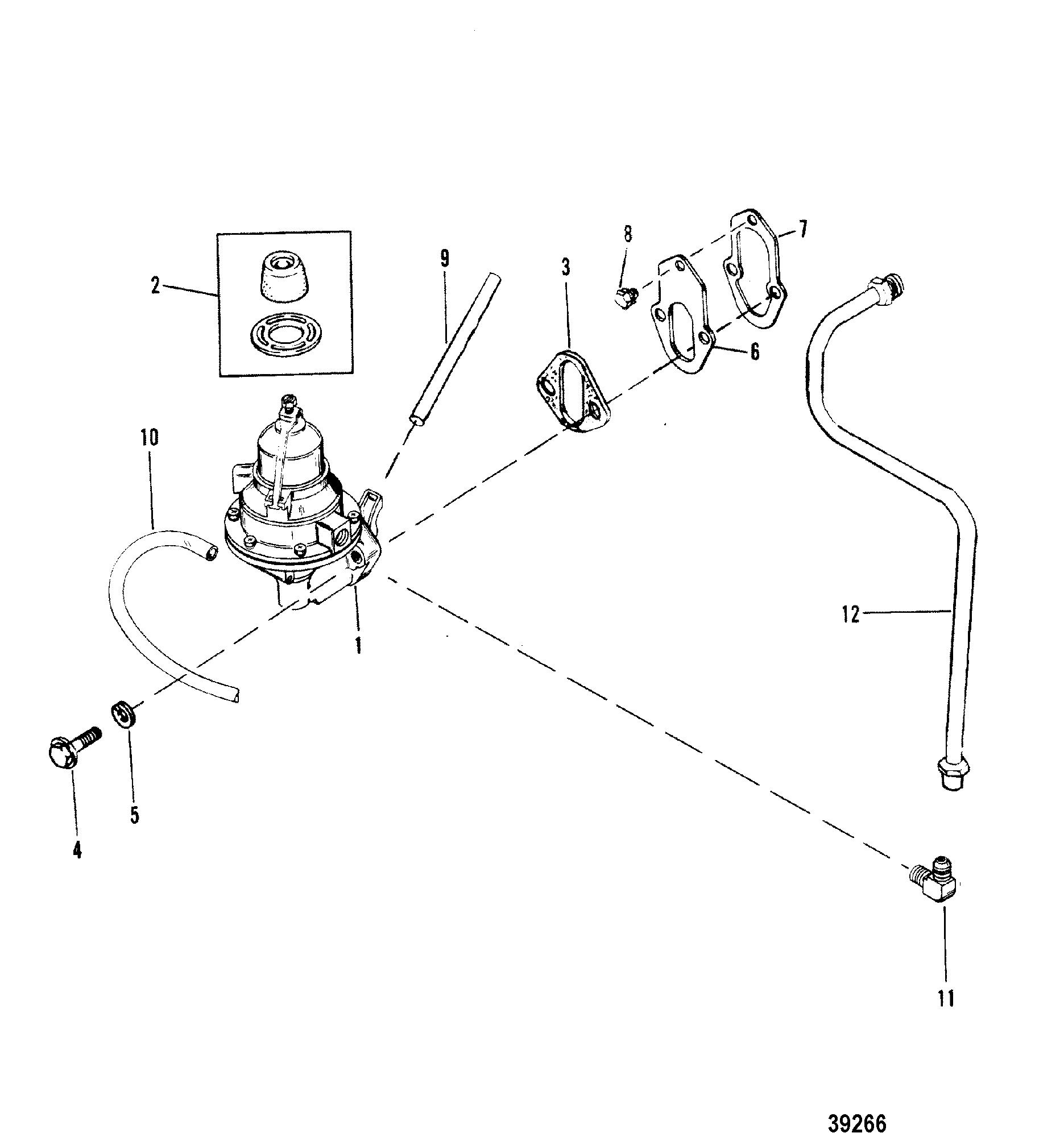 Каталог запчастей MERCRUISER остальные 205 (4 BBL ) GM 262 V