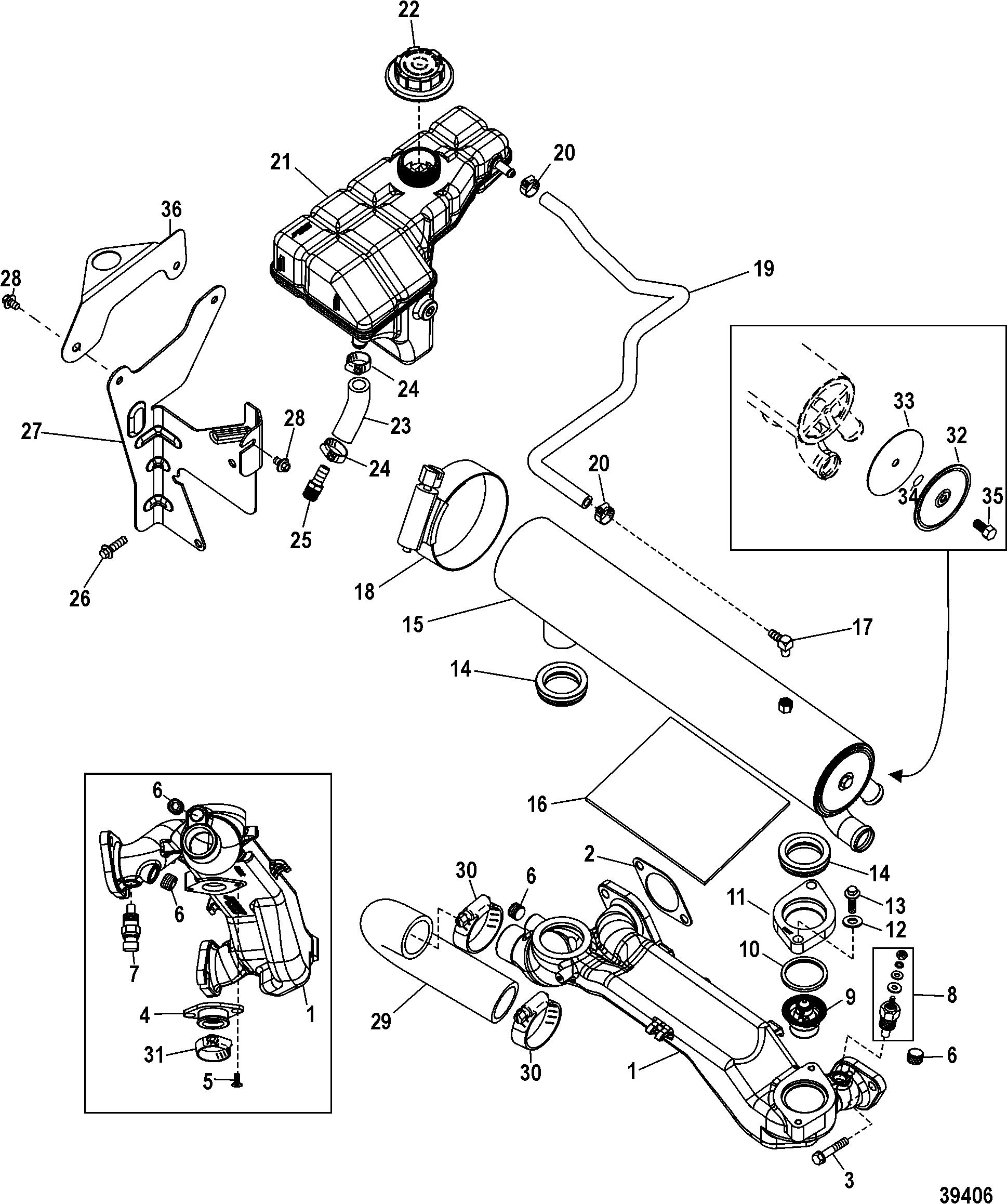 КатаРог запчастей MERCRUISER остаРьные 496 MAG Base Model