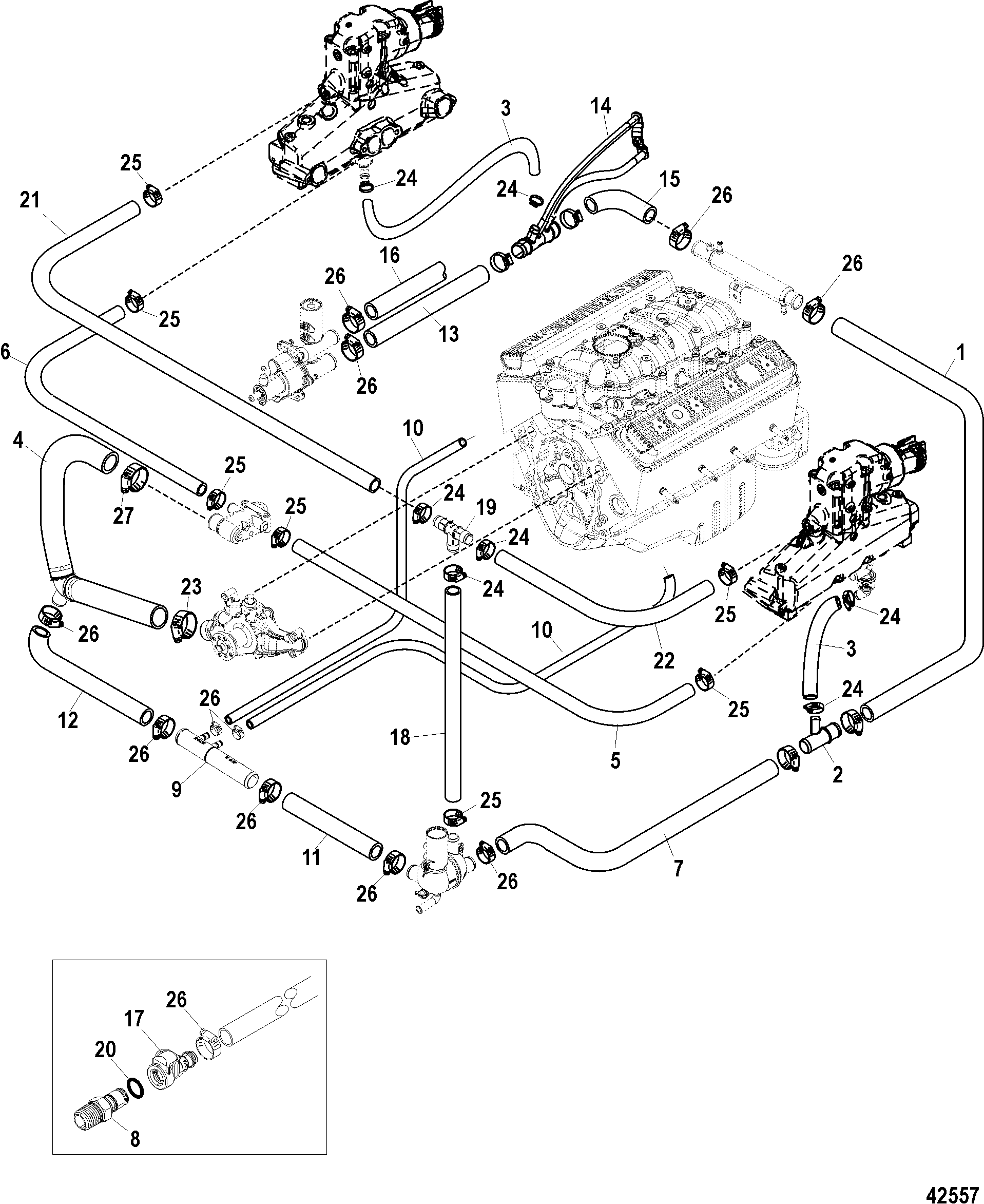 Mercruiser 57l Mpi Towsport With Gen Coil Wire Diagram For 95 S10 Standard Cooling System