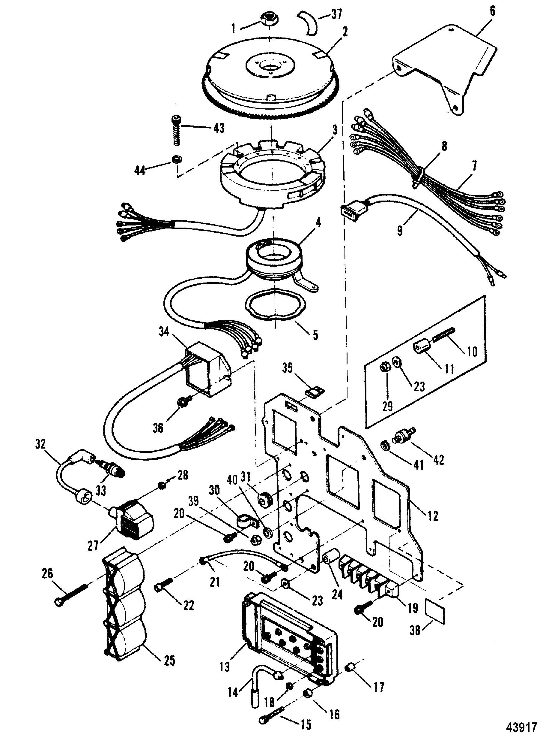 Каталог запчастей force 90 h p (1991 1992) 1991e thru 1992cignition components(91h thru 92c)