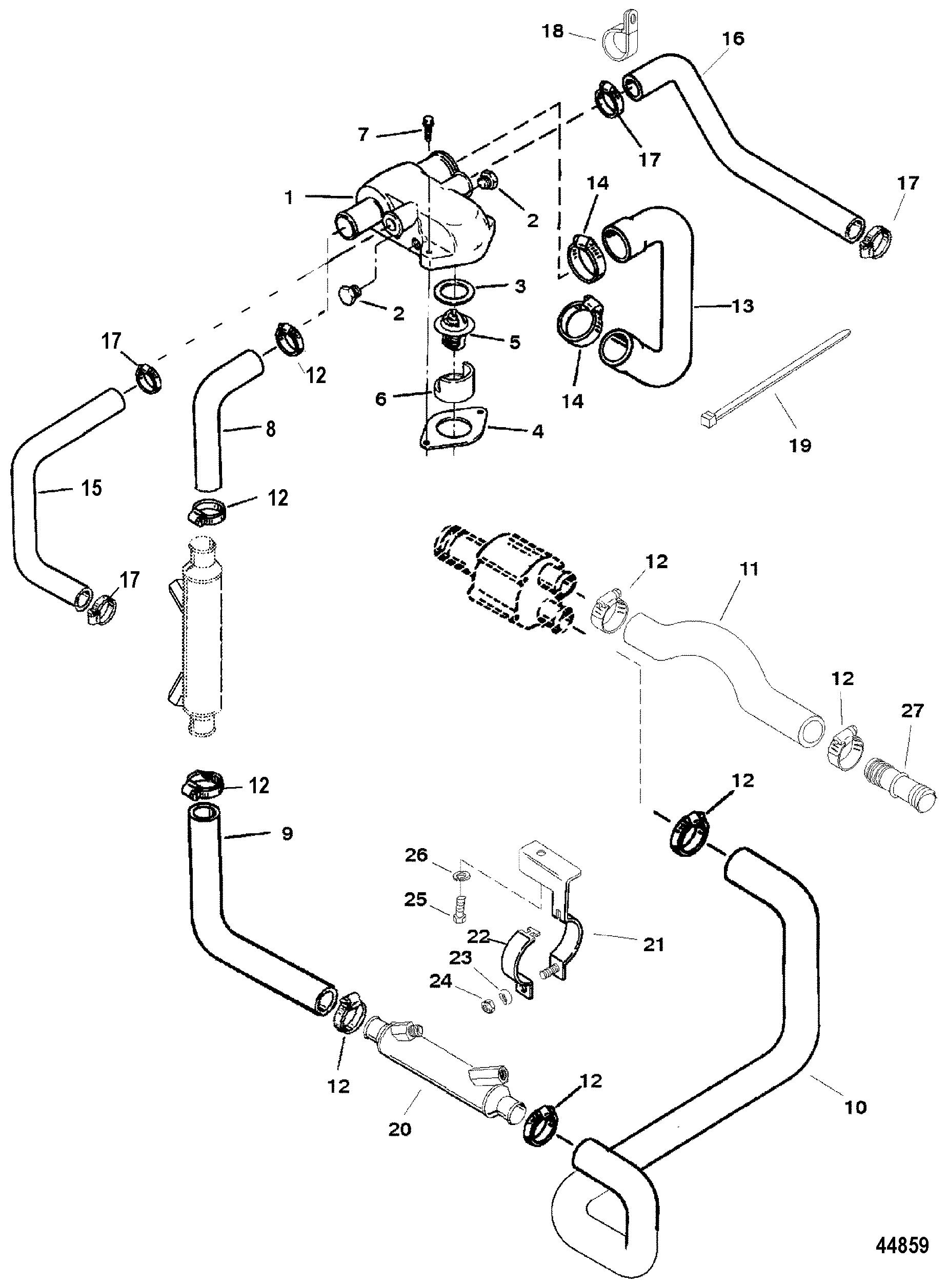 mercruiser inboard transmission diagram