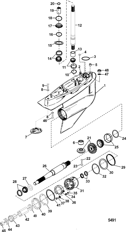 mercruiser alpha one stern drive diagram