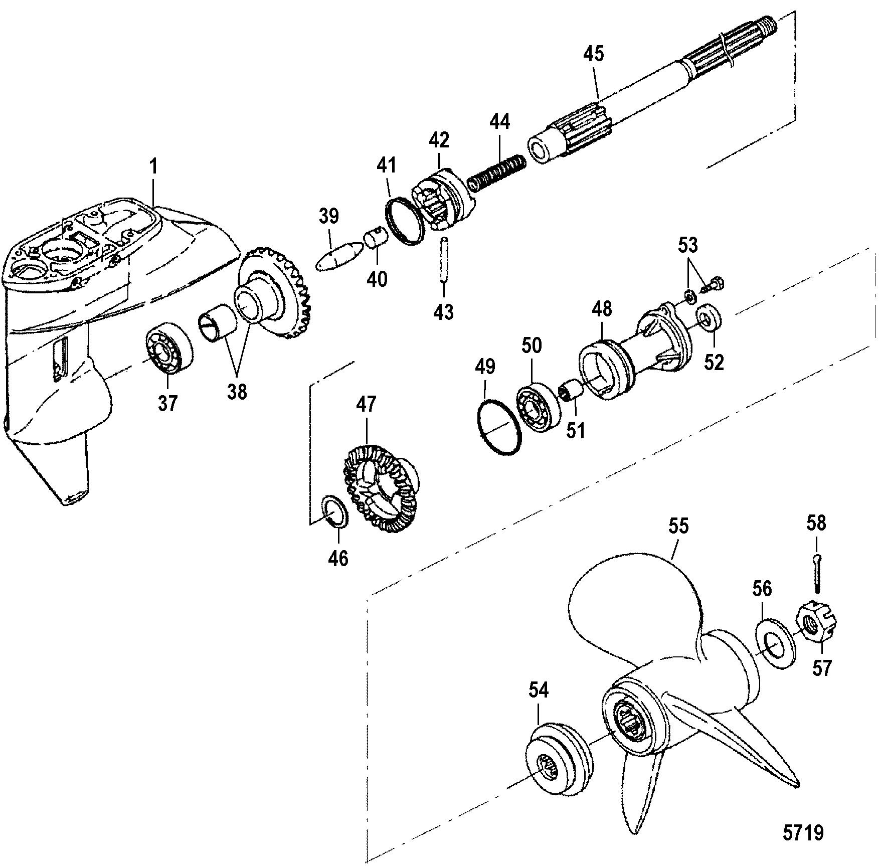 лодочный мотор меркурий 15 замена сальников редуктора