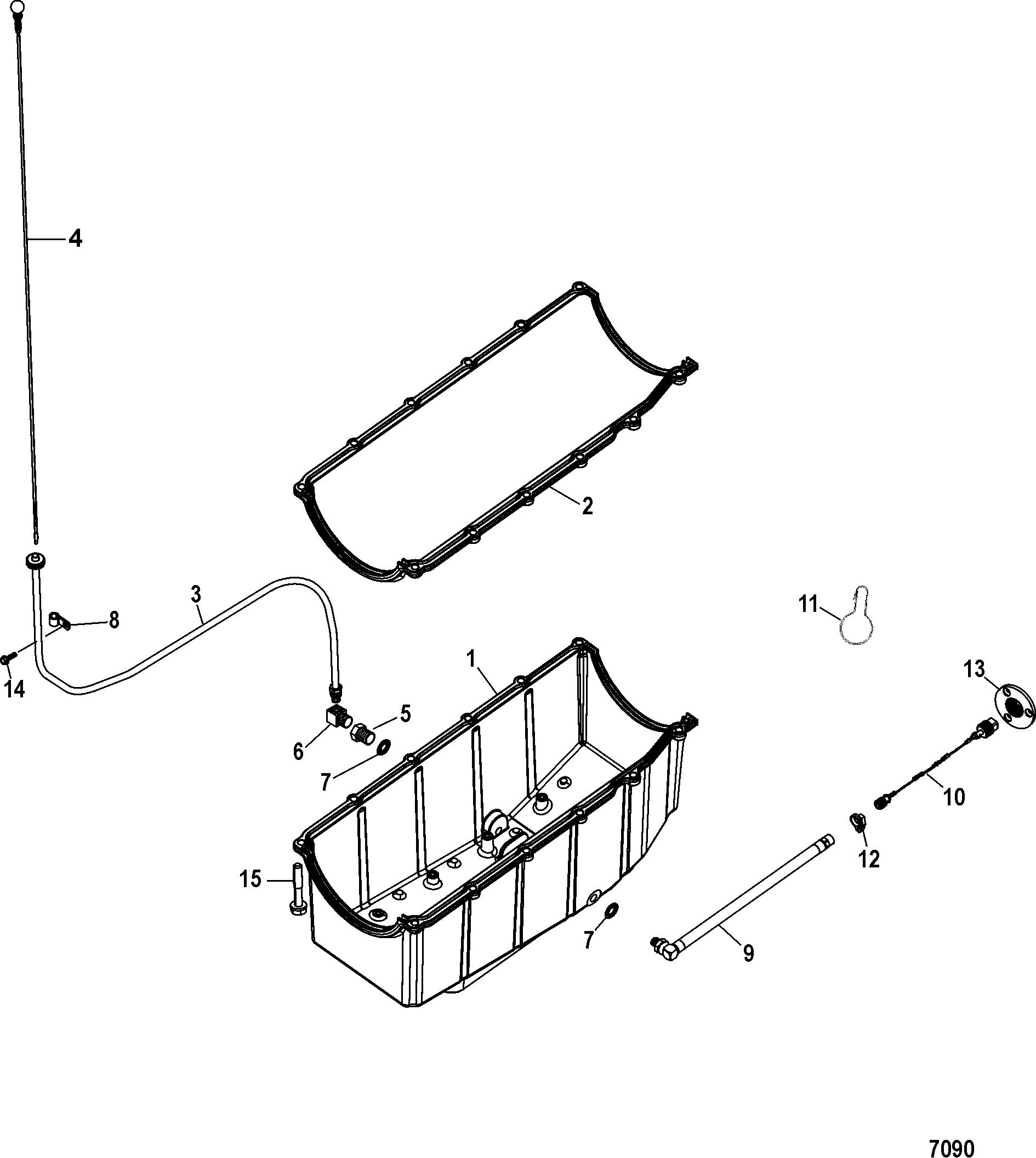 Каталог запчастей MERCRUISER остальные 496 MAG EC (H O