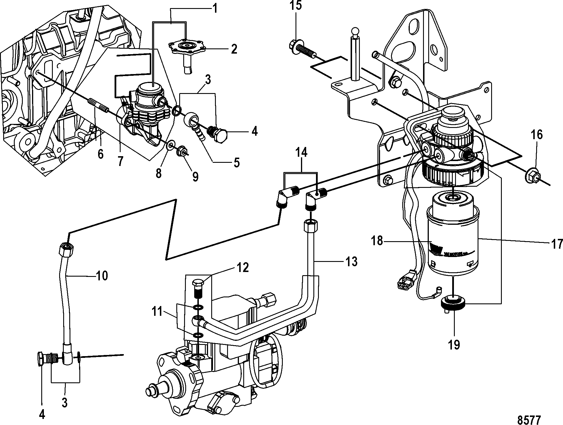Mercruiser Wiring Harness Diagram 2 8 Schematic 120 Fuel Pump And Filter