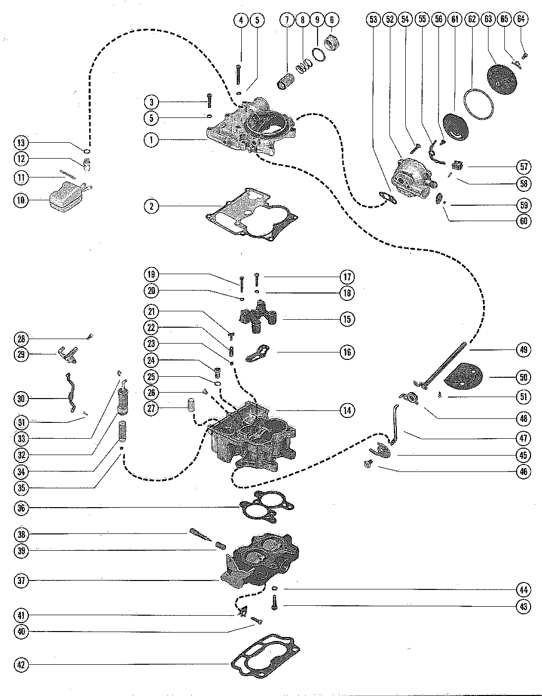 mercruiser 120 carburetor diagram