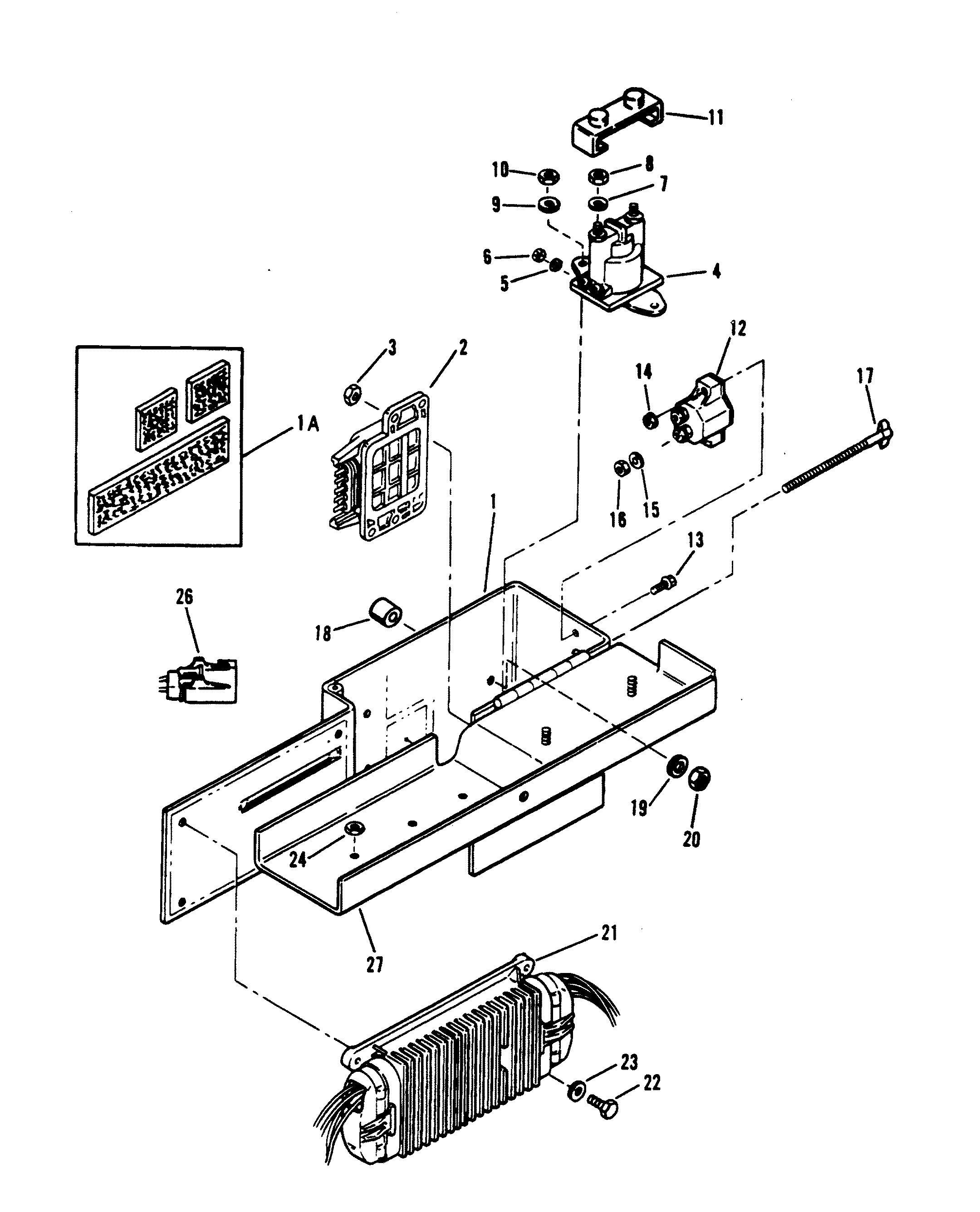 mercruiser 350 mag bravo mpi gm 350 v 8 4.3 Mercruiser Starter Diagram electrical box and ponents