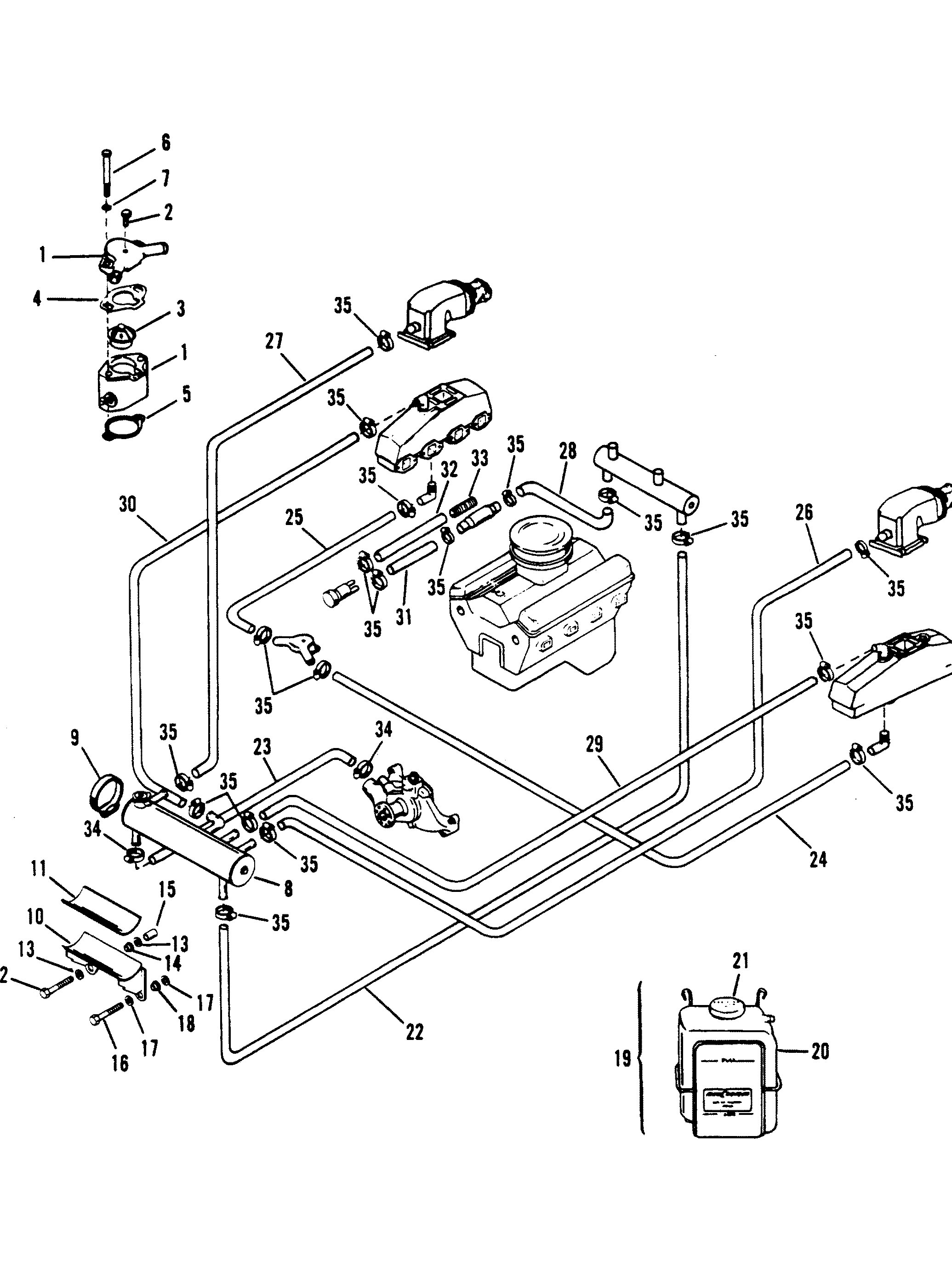Mercruiser 82l Mie Gen V Gm 502 8 Renault Engine Cooling Diagram Closed System