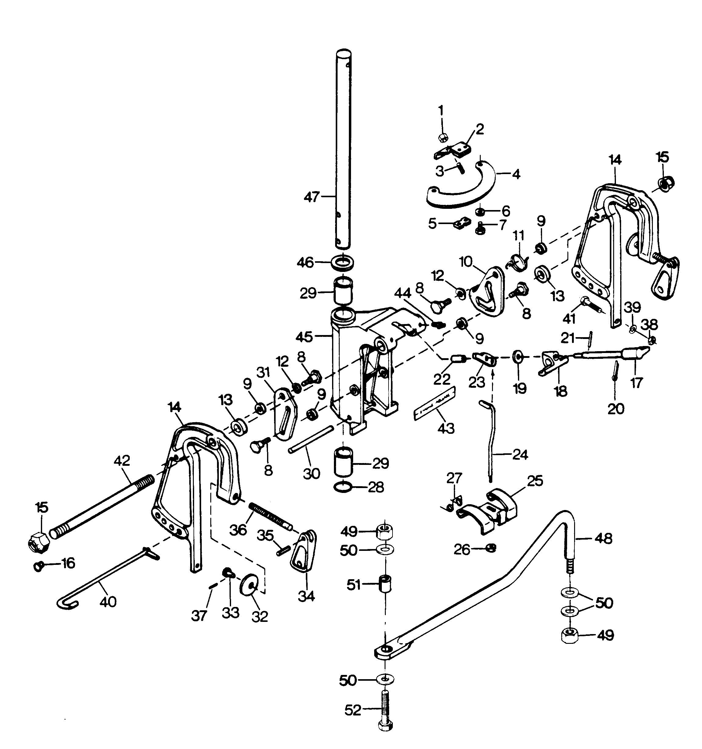 1996 force outboard motor diagram