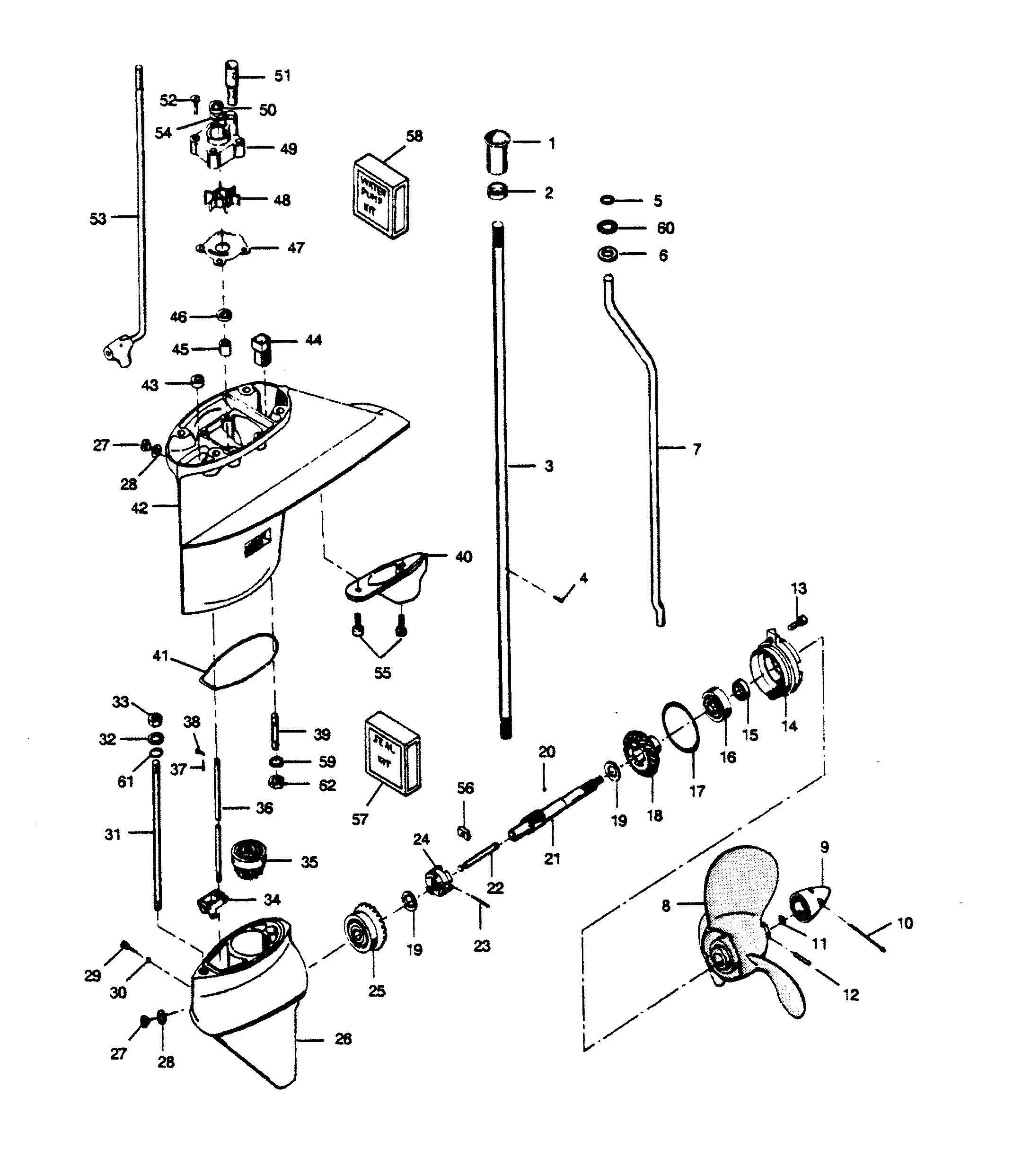 50 hp 1989 force outboard 507f9d electrical components diagram andКаталог запчастей force 50 h p (1989) 508f9c \\u2014 Запасные части50 hp 1989 force