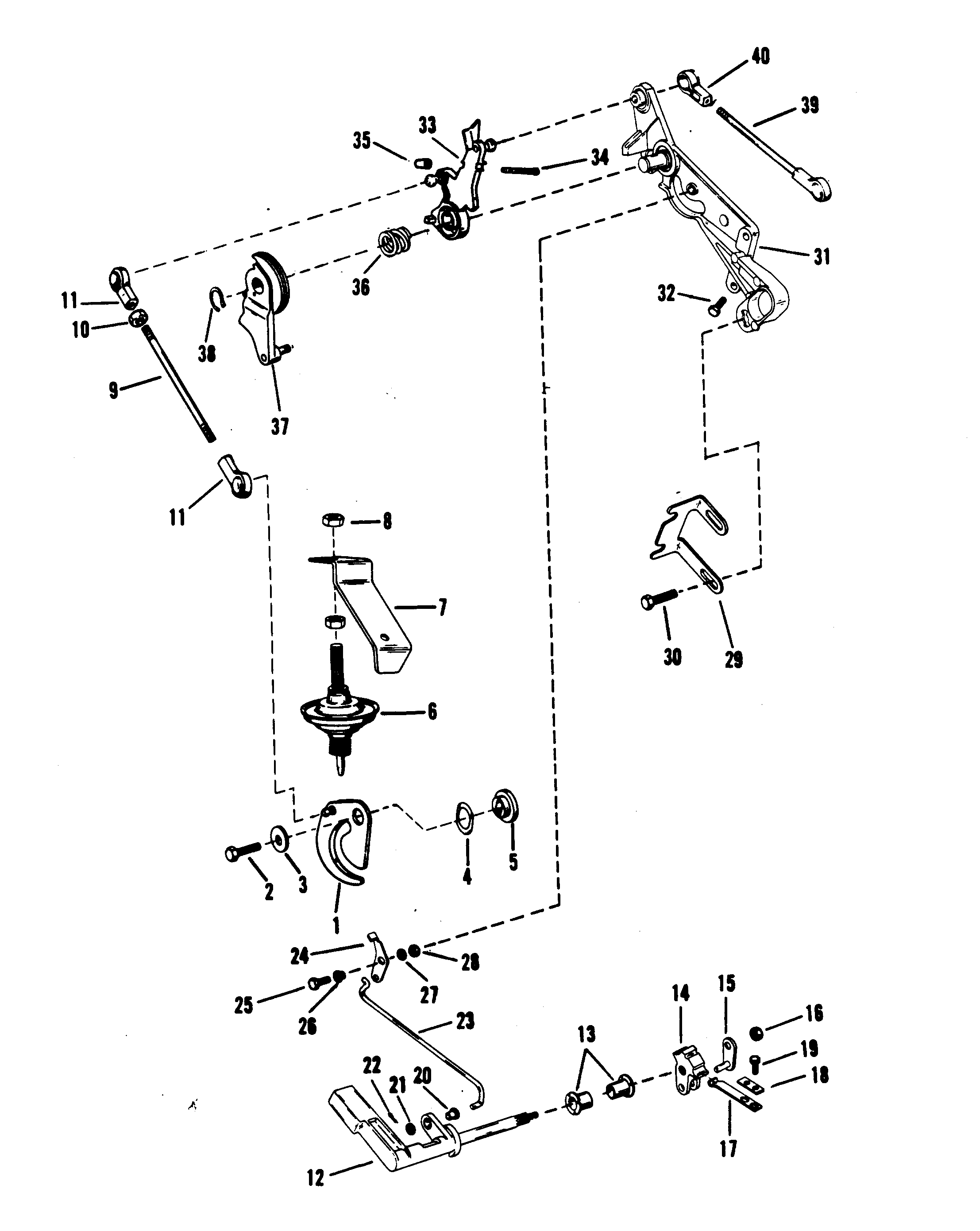 Throttle And Shift Linkage Marinermanual: 30jet 40hp Mercury Outboard Wiring Diagram At Chusao.net