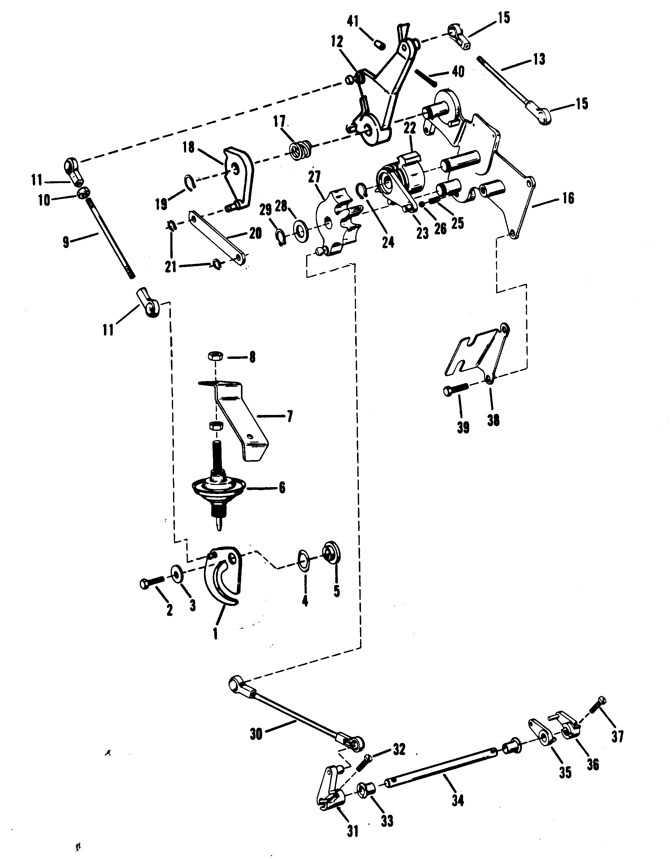 Throttle And Shift Linkage Mercurymanual: 30jet 40hp Mercury Outboard Wiring Diagram At Chusao.net