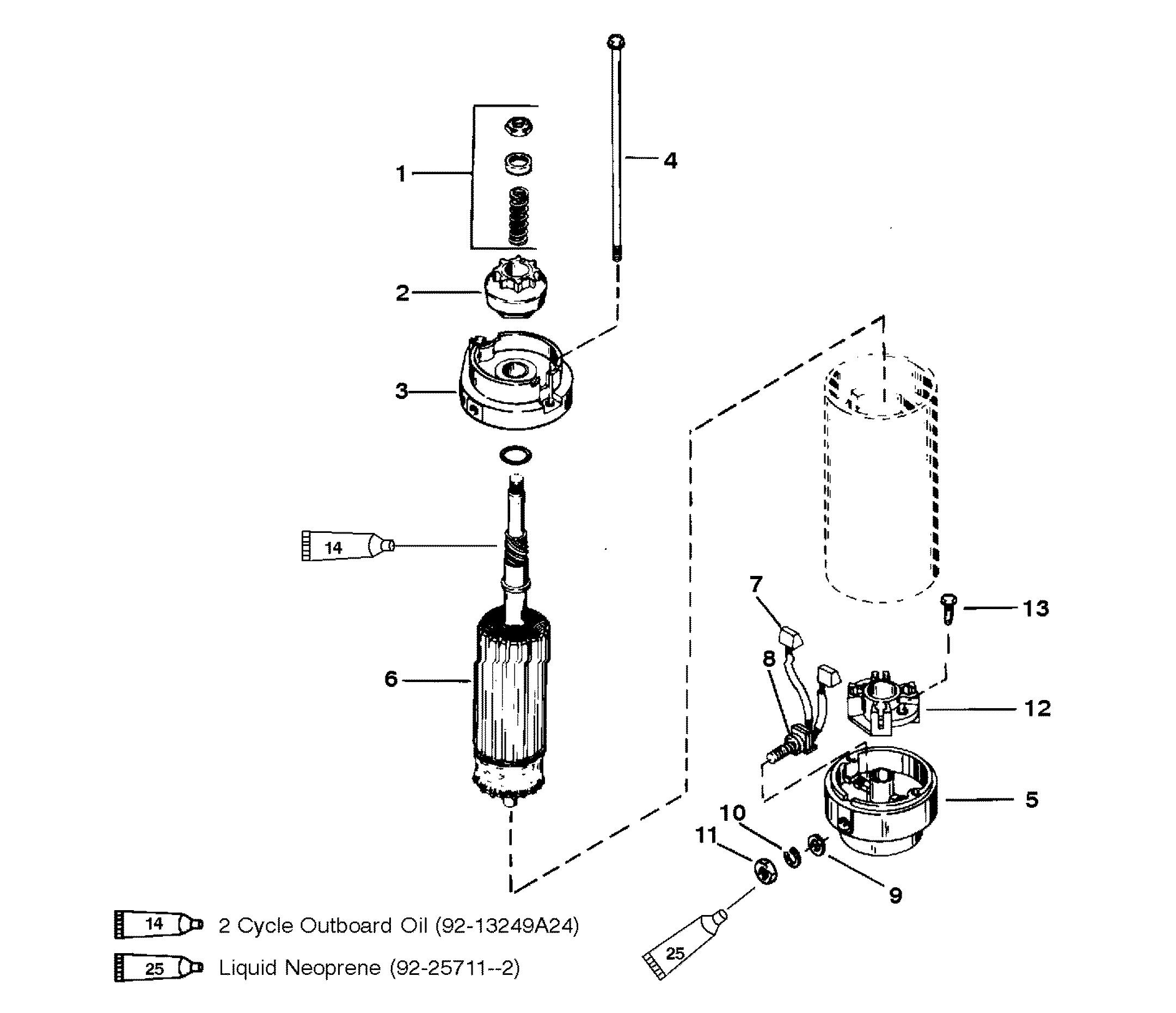 Mariner 50 3 Cyl 0g290585 Thru 0g589999 Diagram Of 8 2 Cyl2strokeinternational Mercury Outboard Starter Motor Assembly